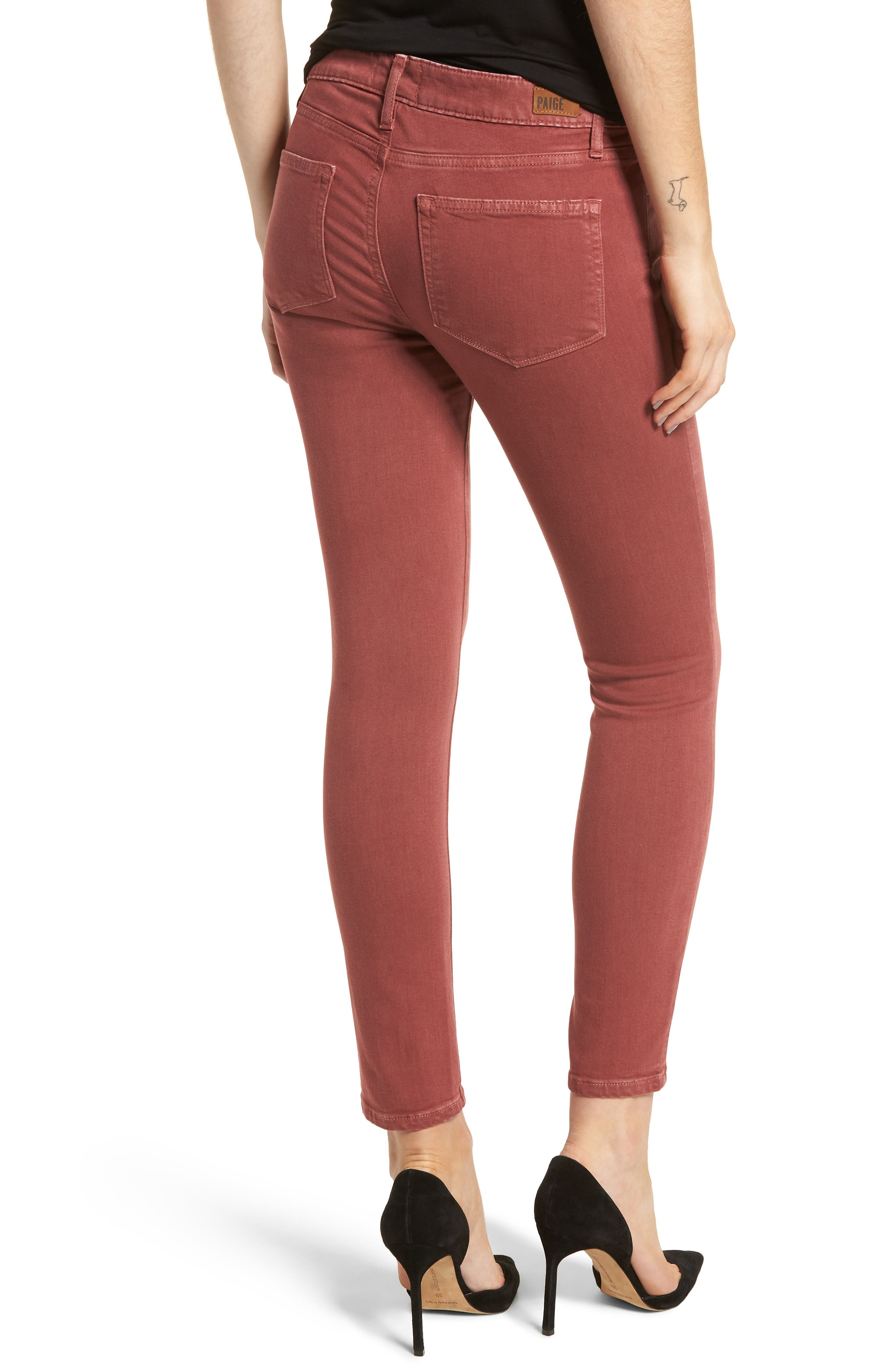 Alternate Image 2  - PAIGE Verdugo Ankle Ultra Skinny Jeans (Vintage Dark Rose)