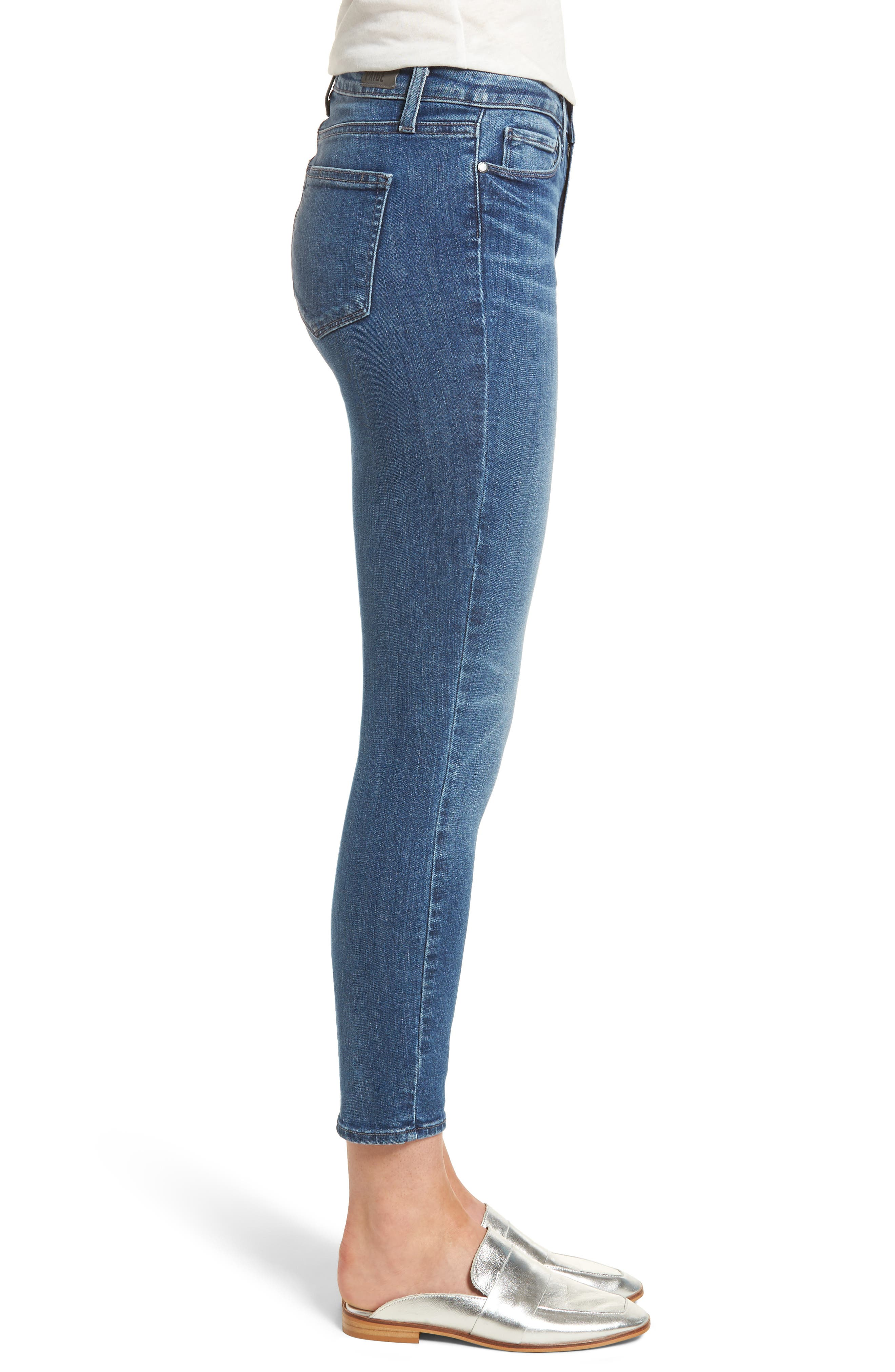 Hoxton High Waist Ankle Skinny Jeans,                             Alternate thumbnail 3, color,                             Bloomfield