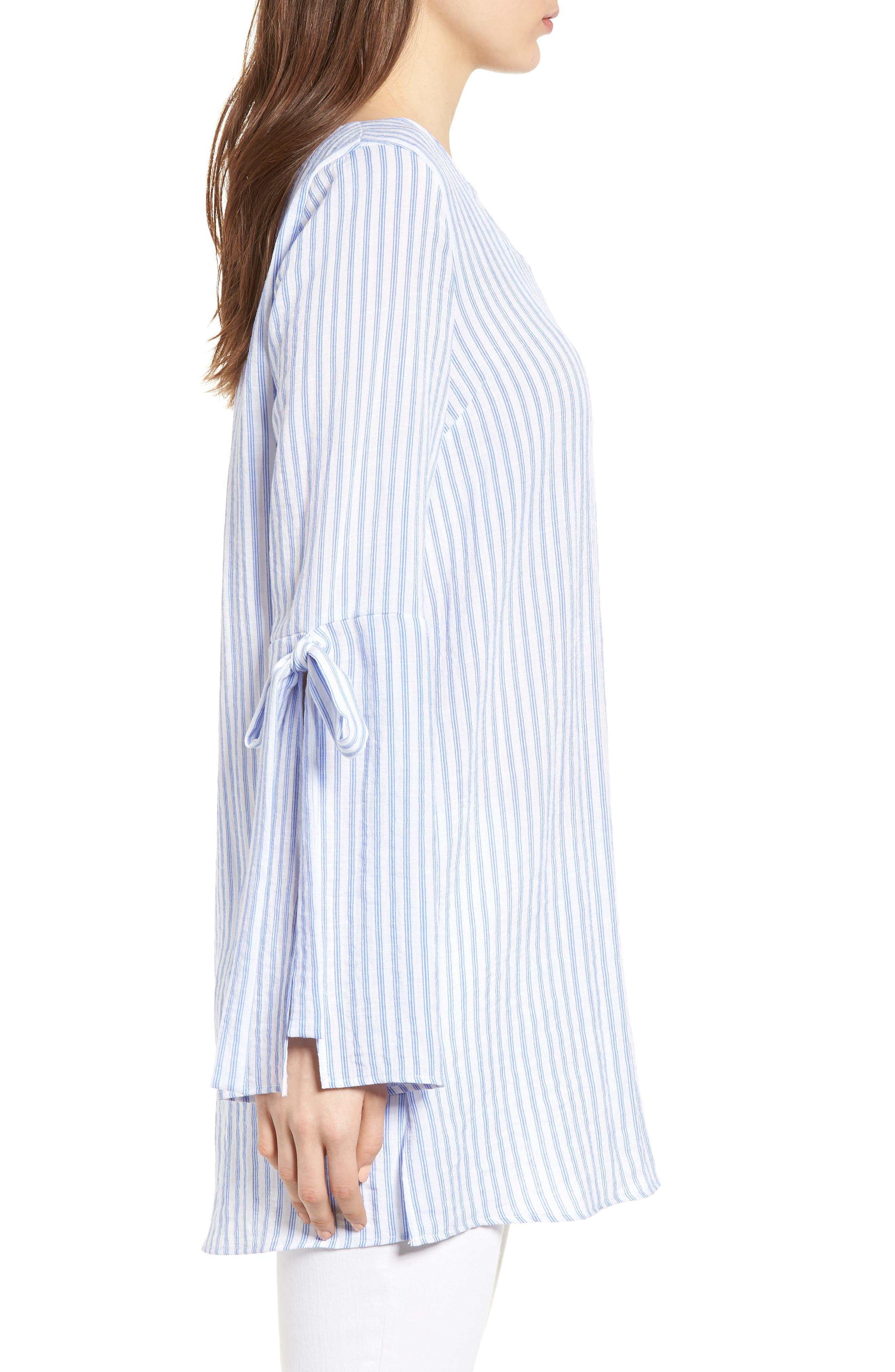 Bishop + Young Stripe Tunic Top,                             Alternate thumbnail 3, color,                             Blue White Stripe