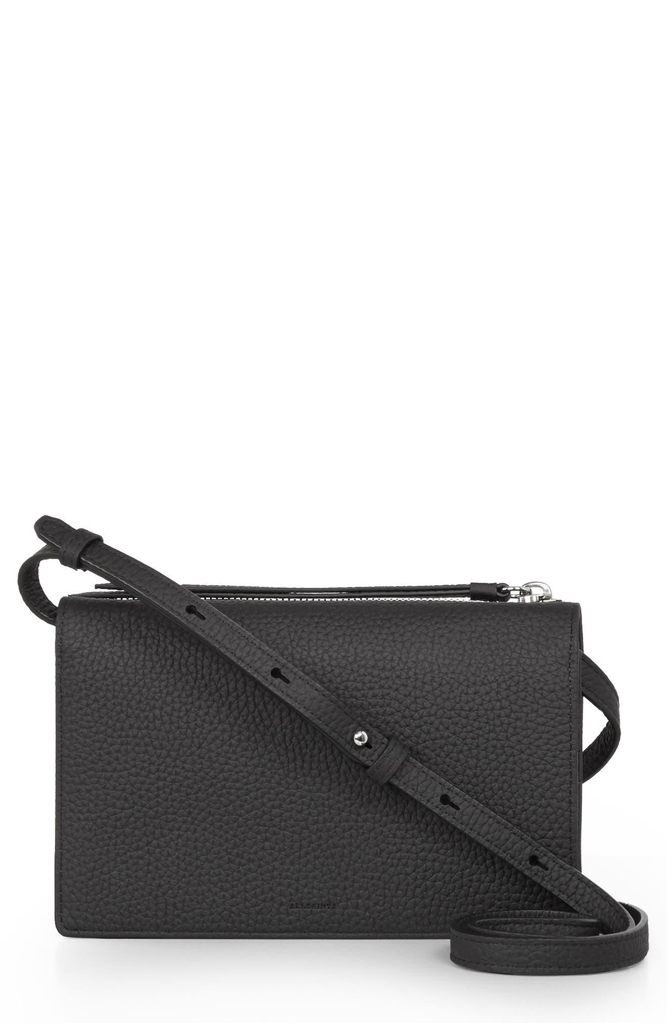 ALLSAINTS Fetch Leather Crossbody Wallet