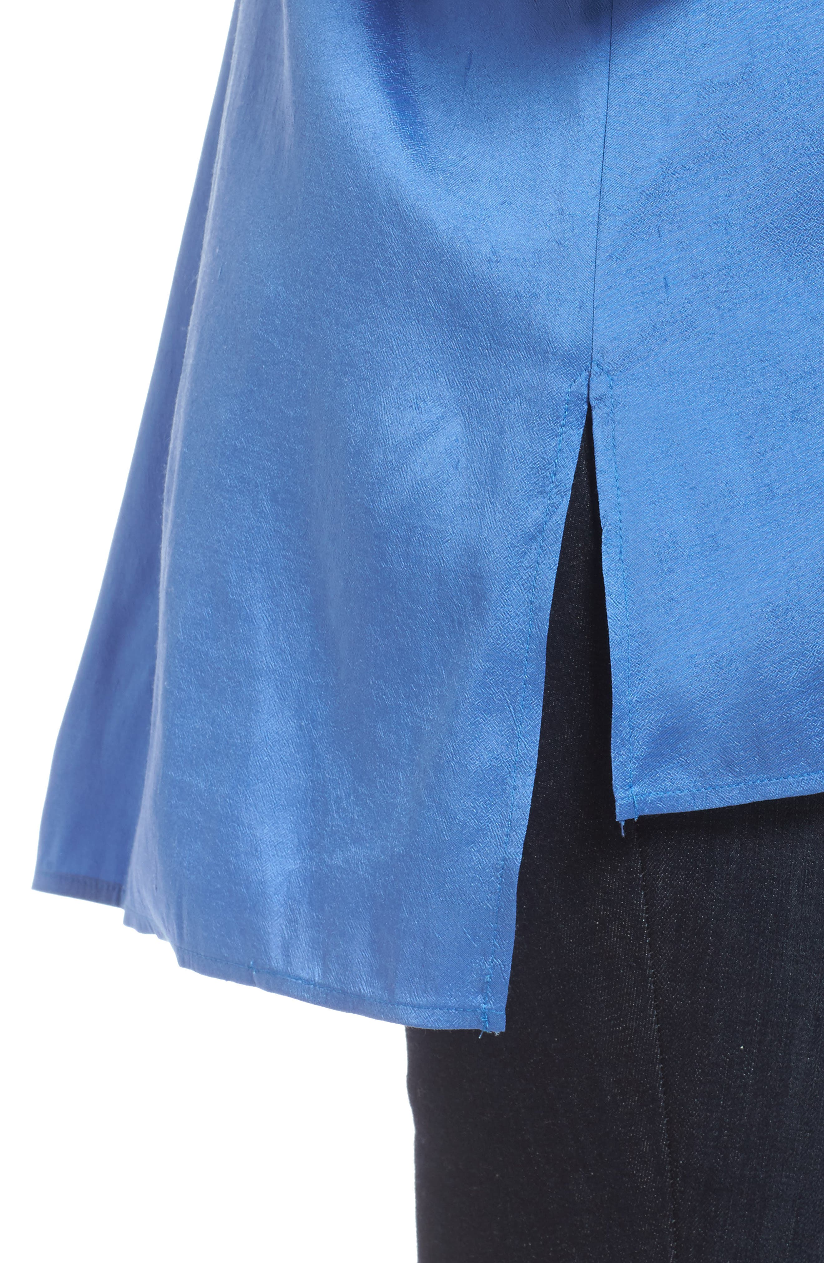 Notch Collar Shirt,                             Alternate thumbnail 4, color,                             Blue Bell