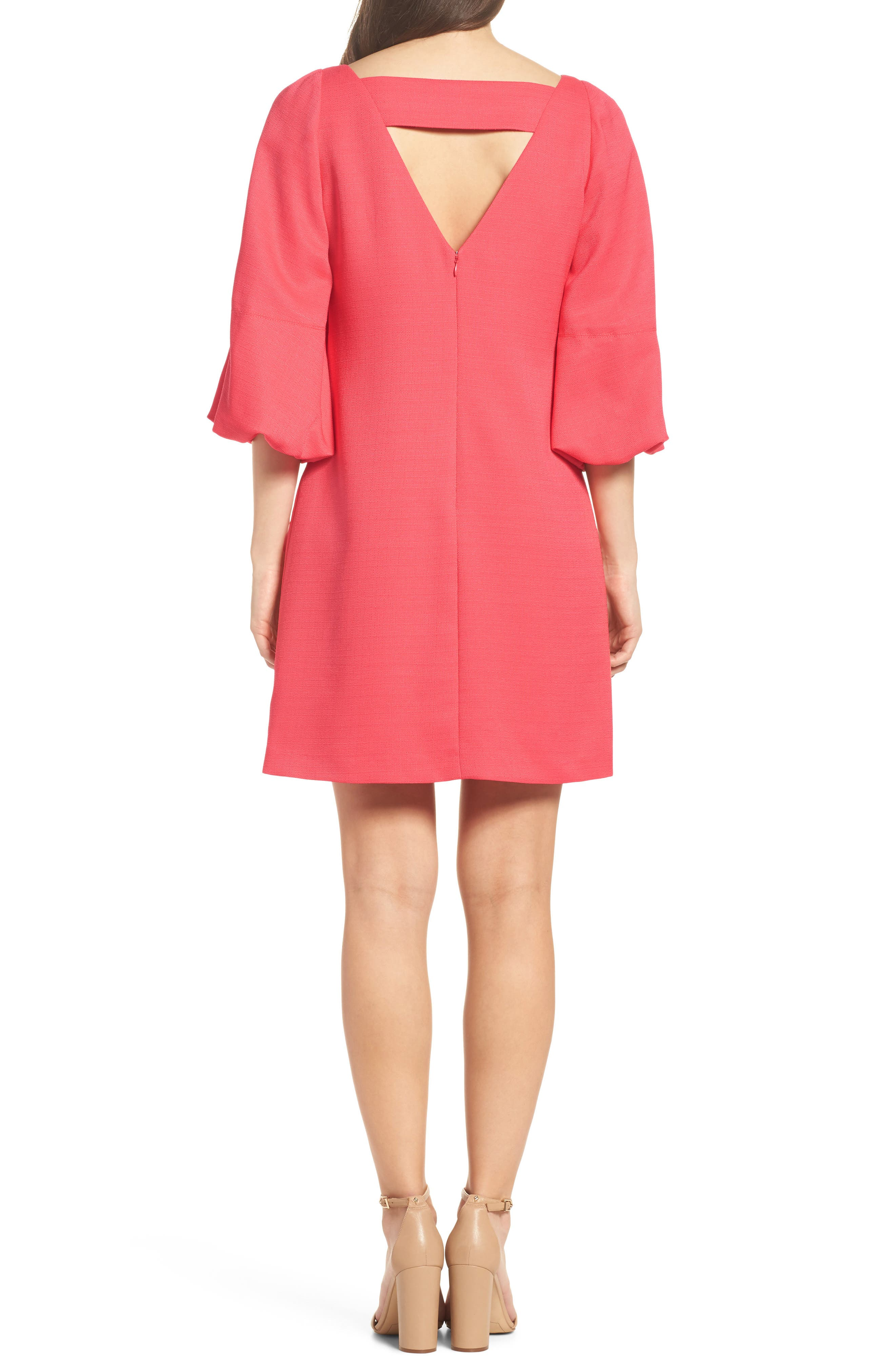 Alternate Image 2  - Eliza J Puff Sleeve Shift Dress