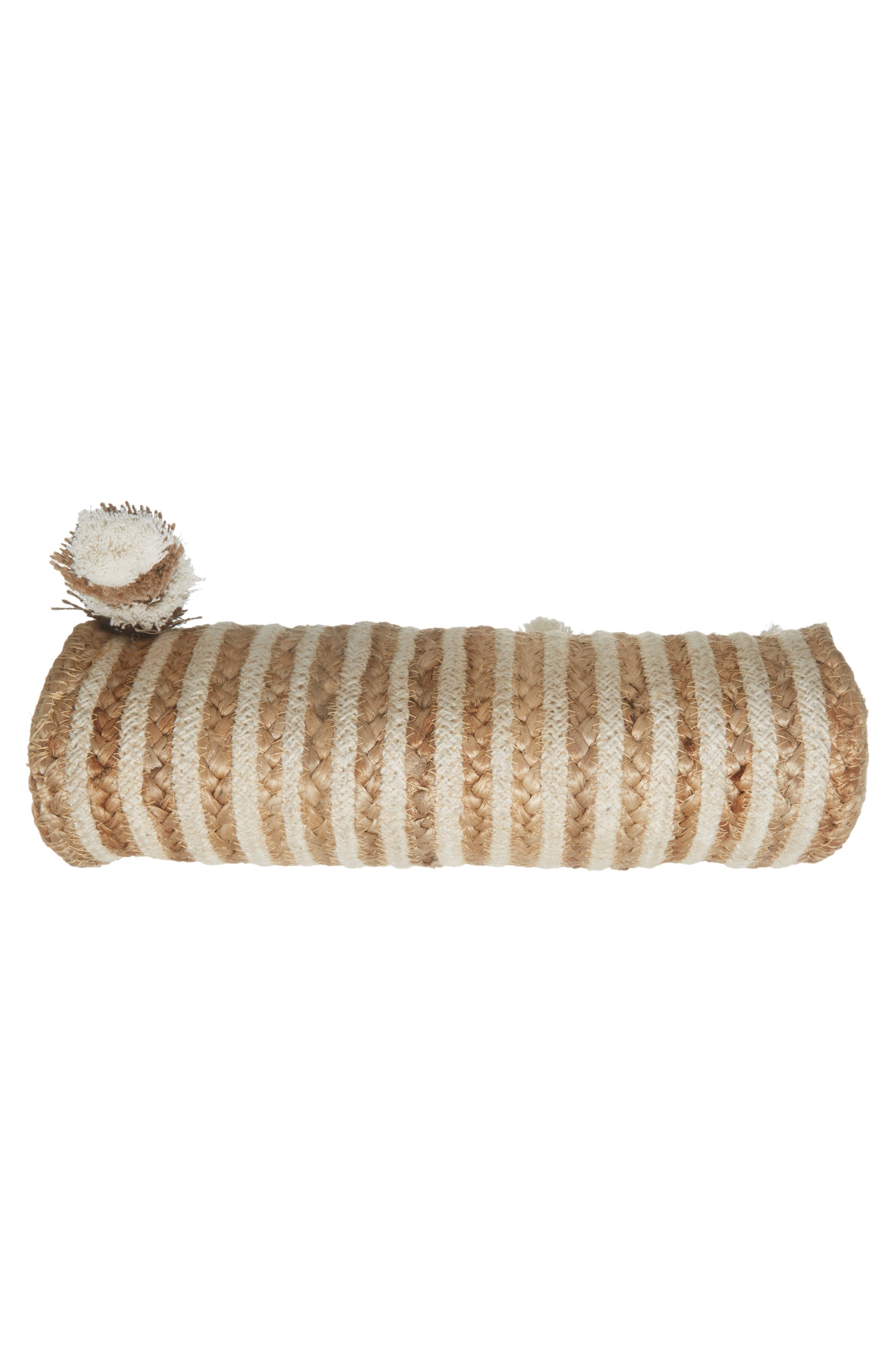 Mare Straw Clutch,                             Alternate thumbnail 6, color,                             Ivory
