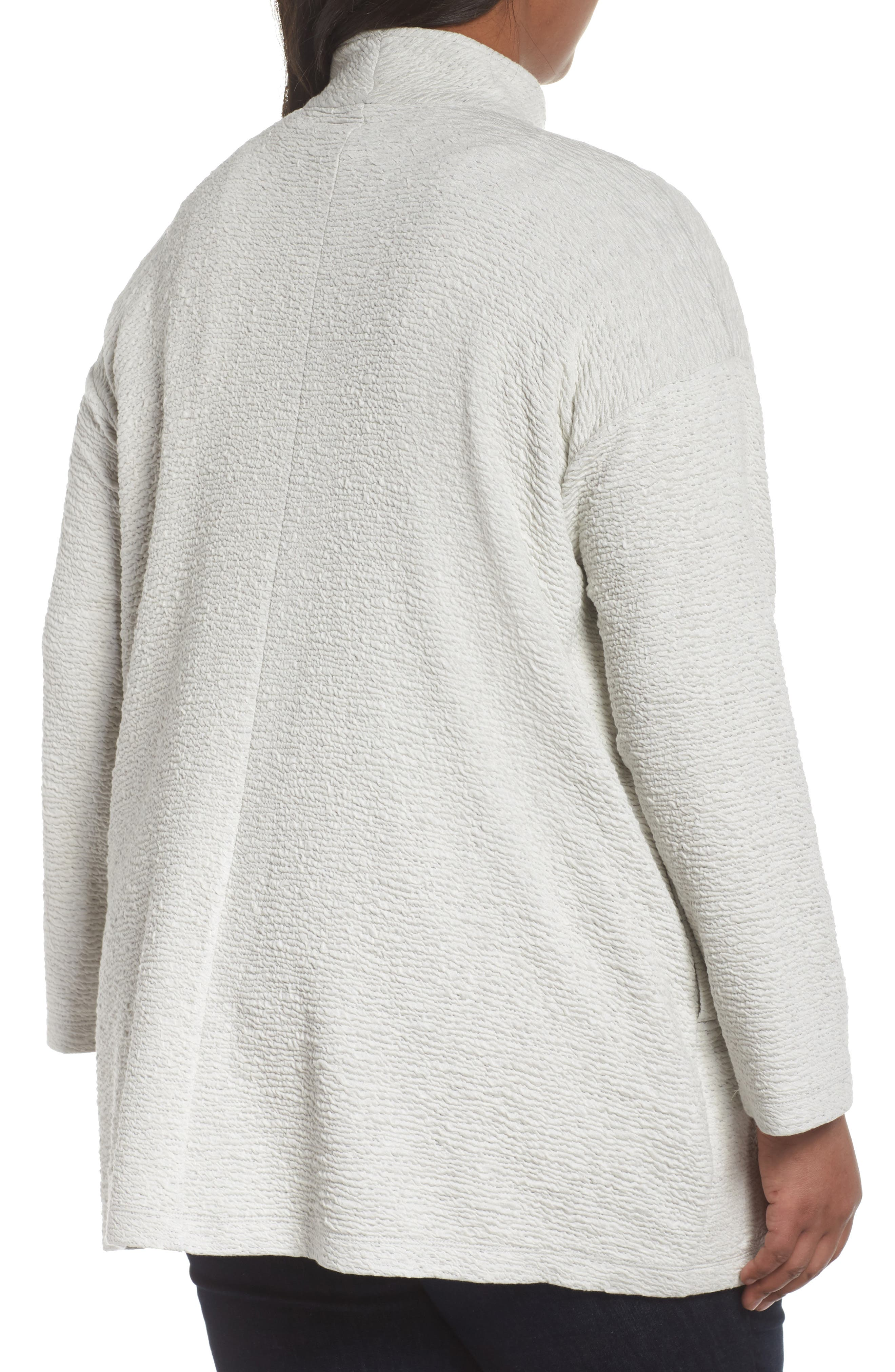 Textured Tencel<sup>®</sup> Lyocell Kimono Jacket,                             Alternate thumbnail 2, color,                             White