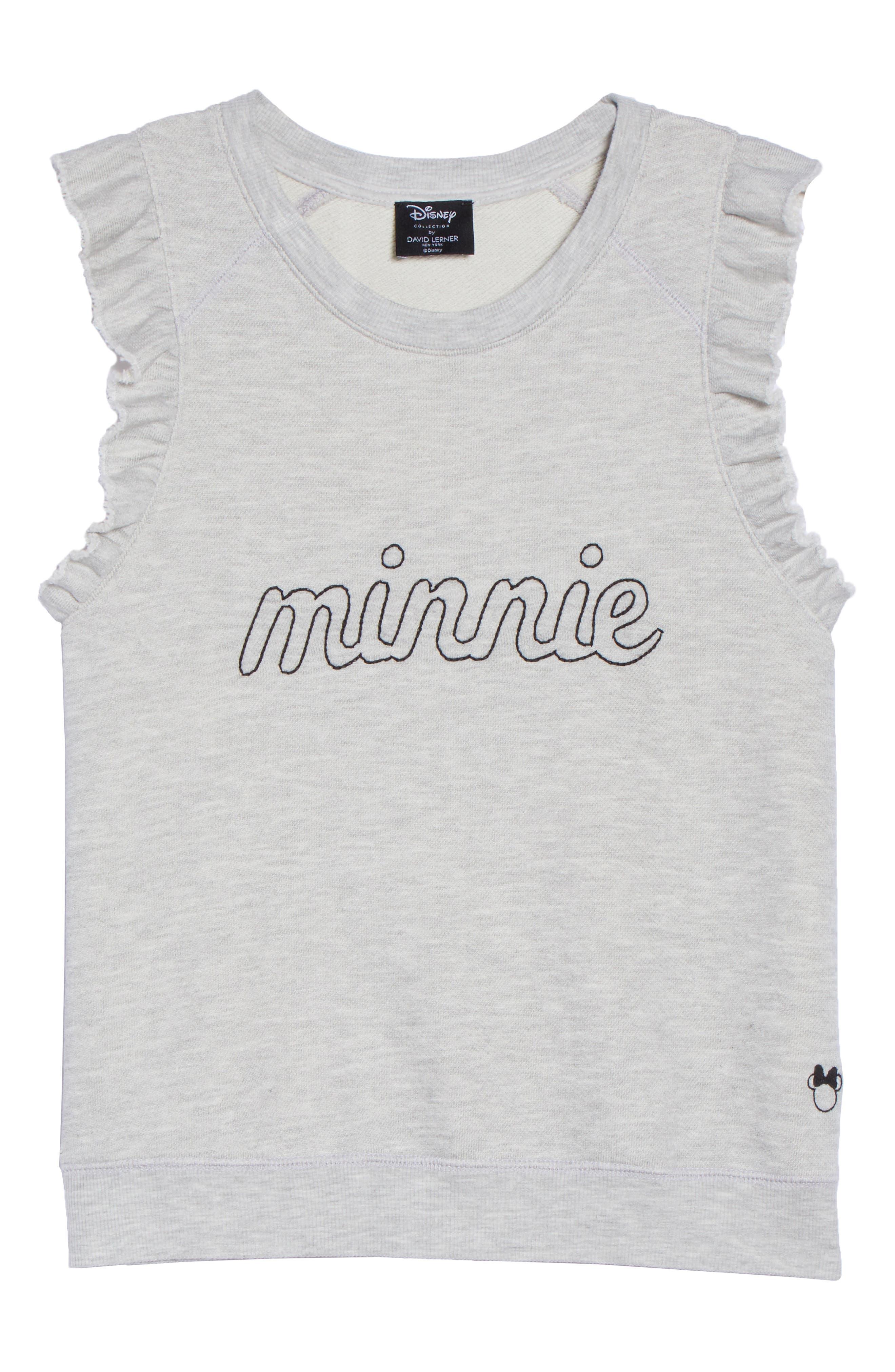 Minnie Ruffle Tank,                             Alternate thumbnail 4, color,                             Heather Grey