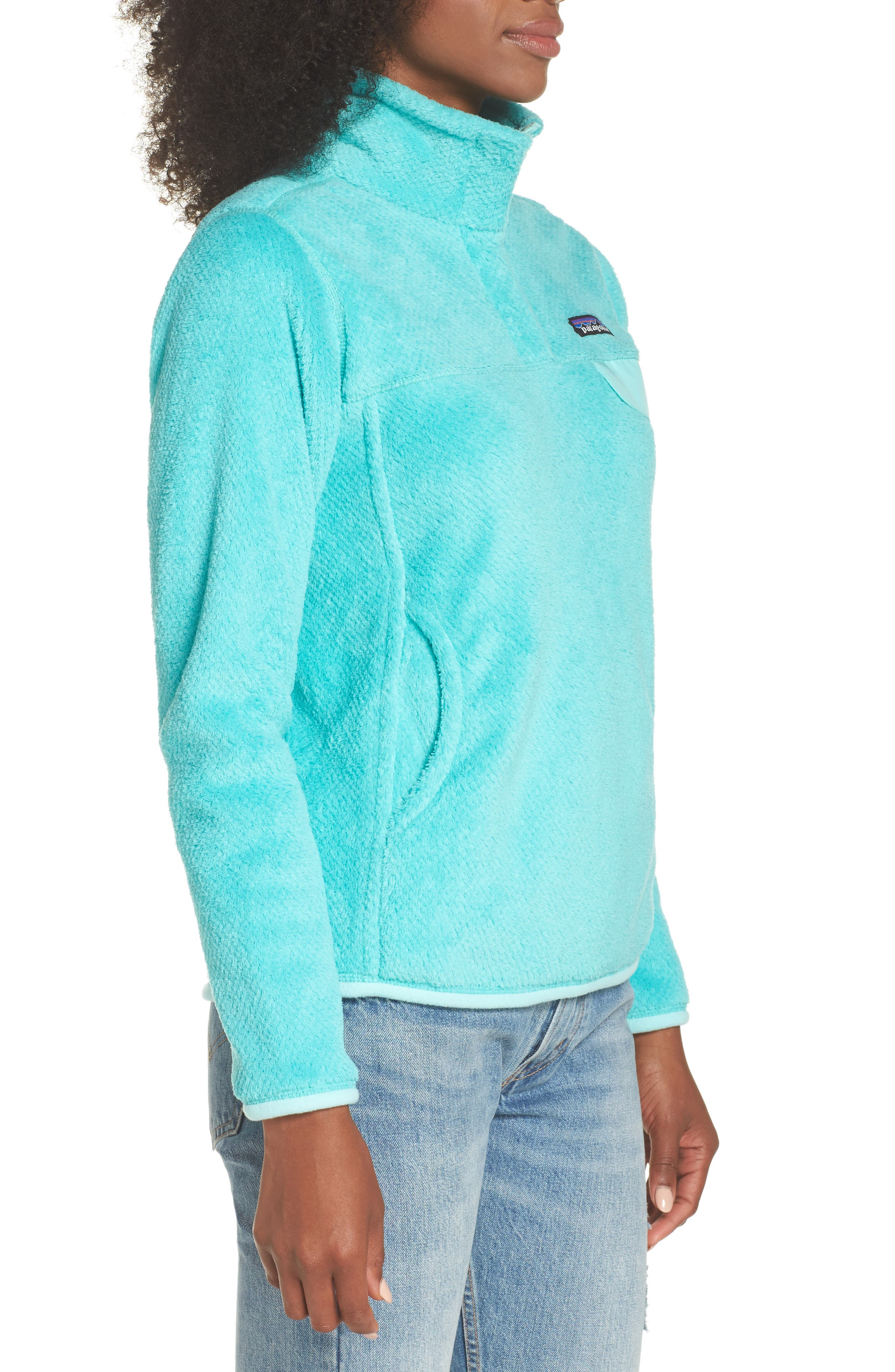 Re-Tool Snap-T<sup>®</sup> Fleece Pullover,                             Alternate thumbnail 3, color,                             Bend Blue/ Strait Blue X Dye