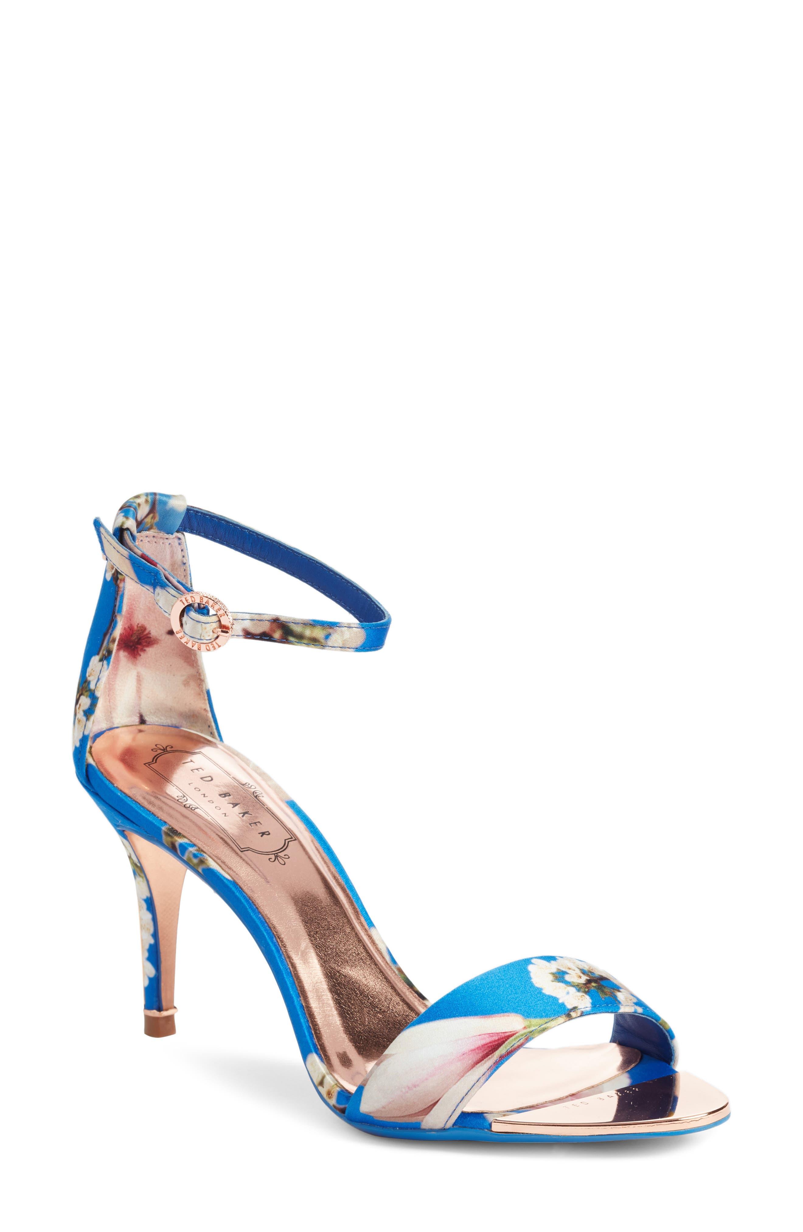 Mavbe Ankle Strap Sandal,                         Main,                         color, Blue Harmony Print