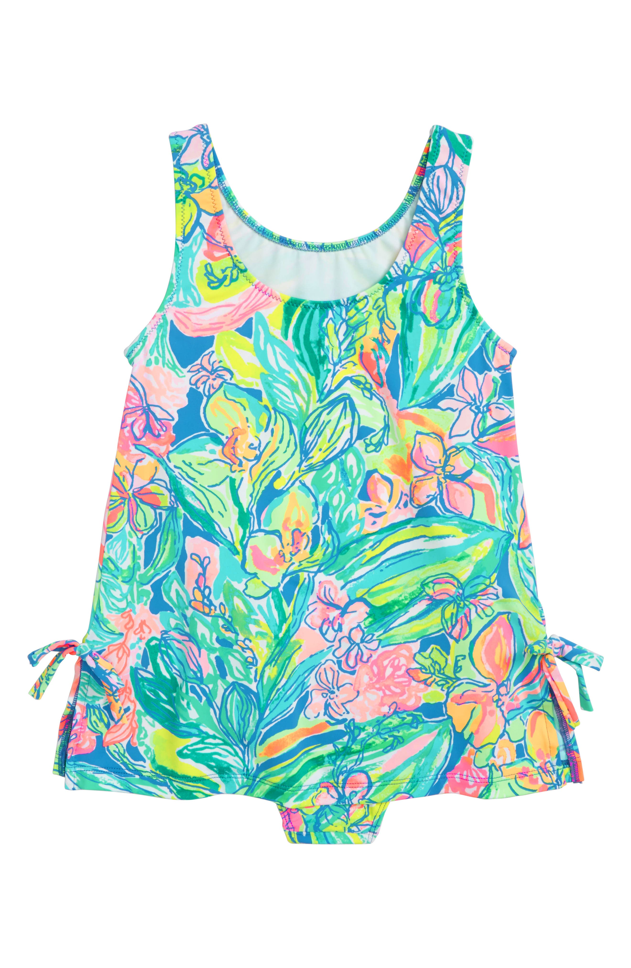 Little Lilly One-Piece Swimsuit,                         Main,                         color, Bennet Blue Surf Gypsea