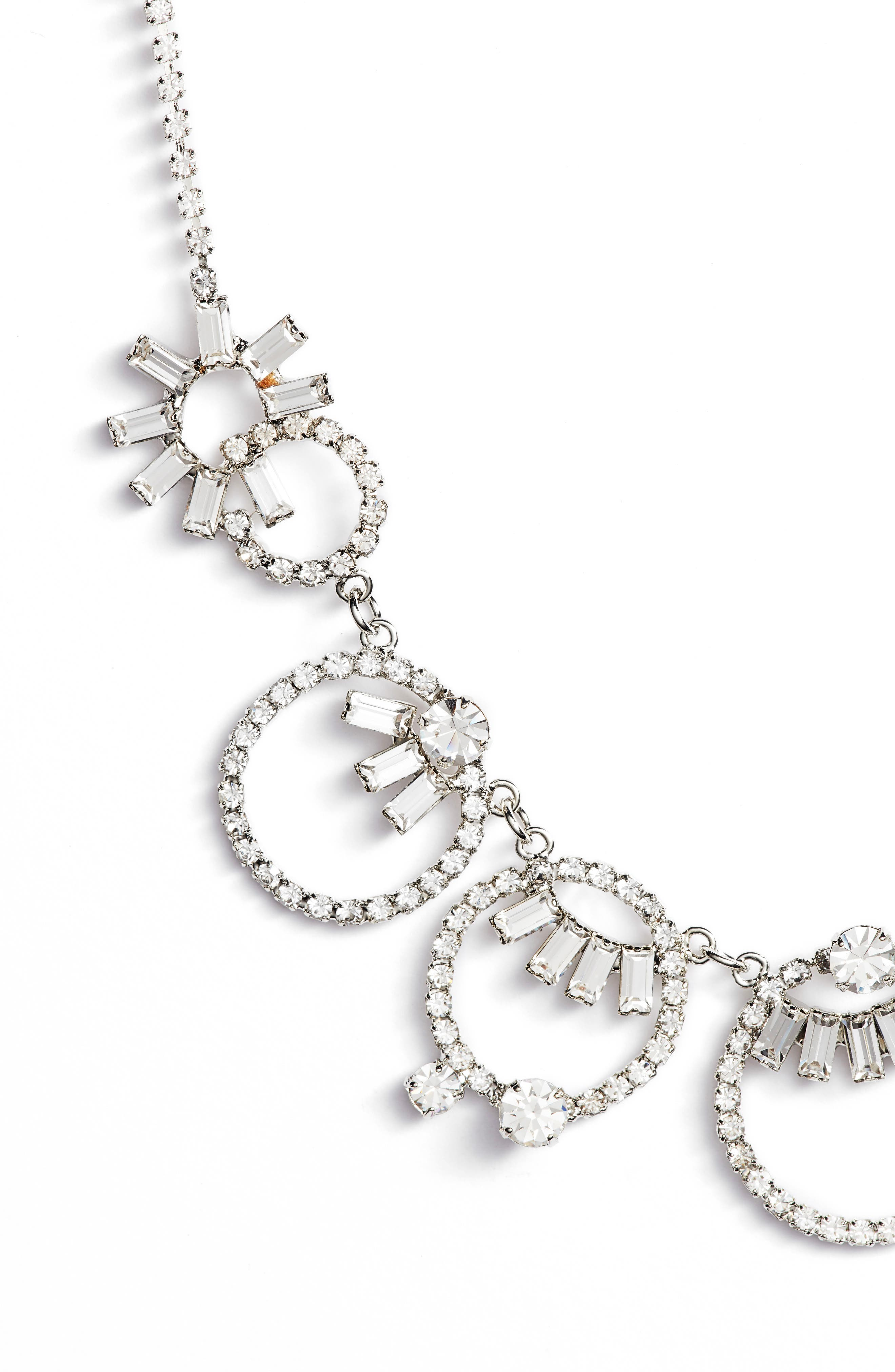 Multi Loop Necklace,                             Alternate thumbnail 2, color,                             Crystal