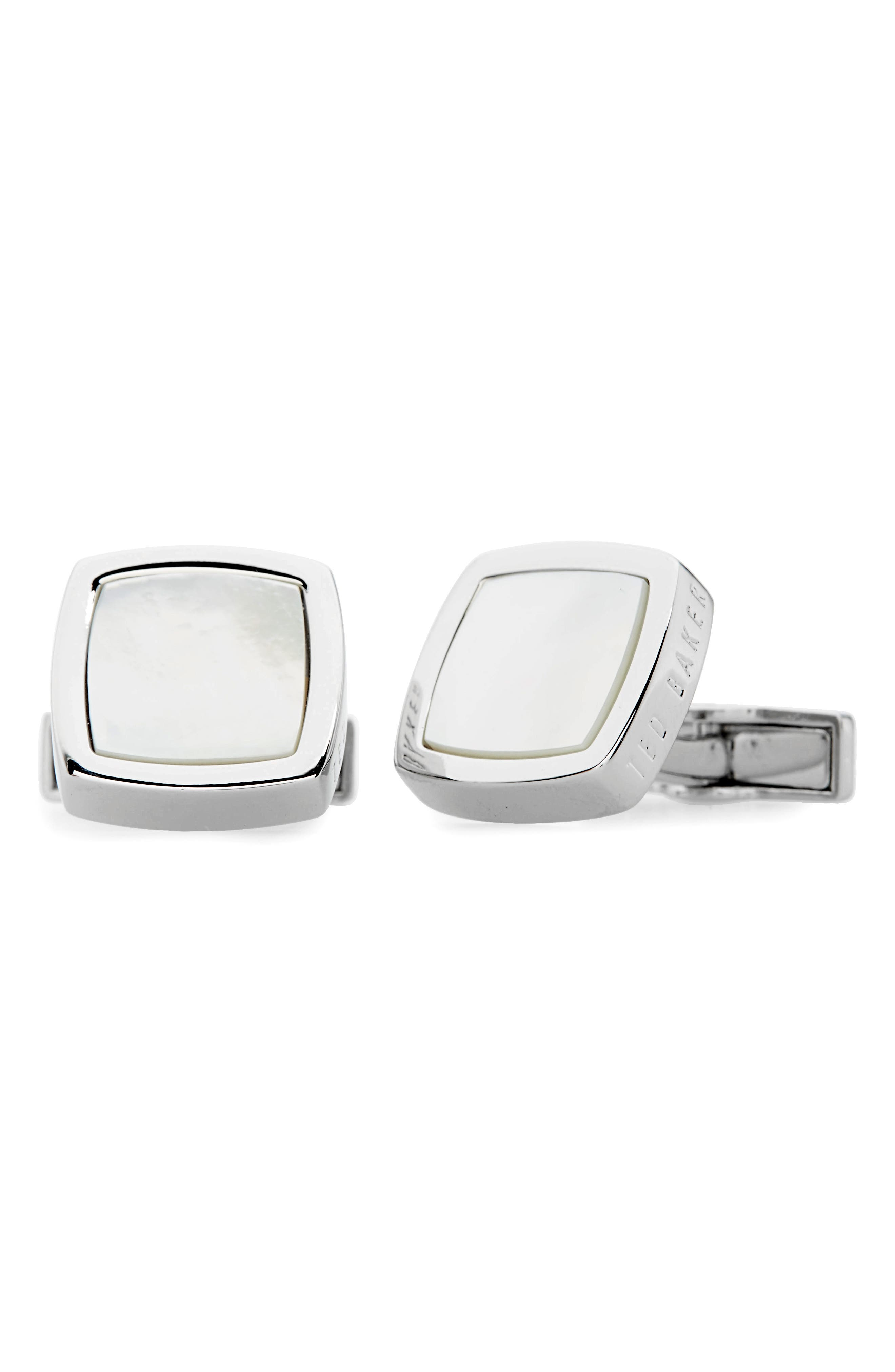 Dedlift Cuff Links,                             Main thumbnail 1, color,                             White
