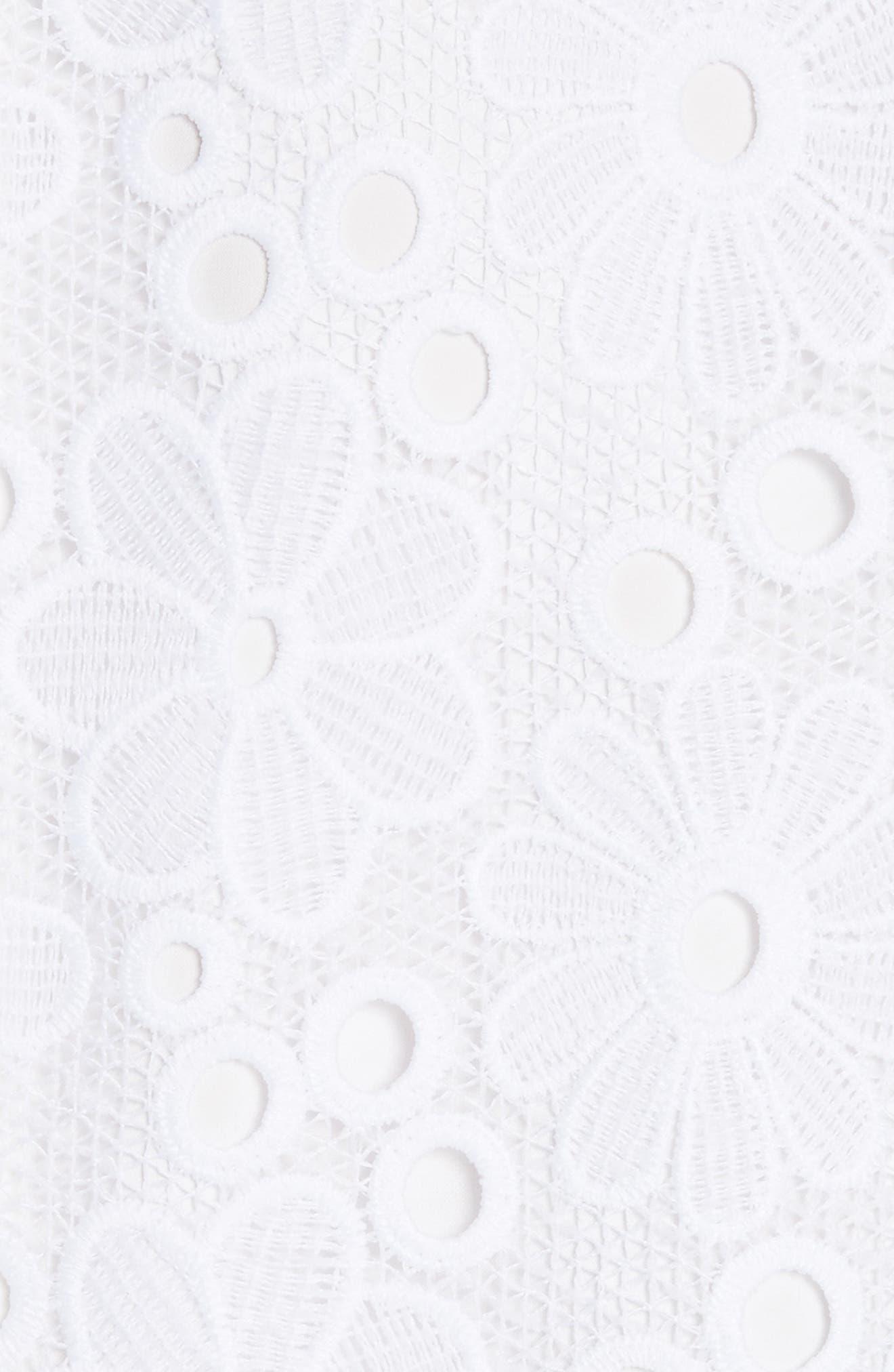 lace shift dress,                             Alternate thumbnail 5, color,                             Fresh White