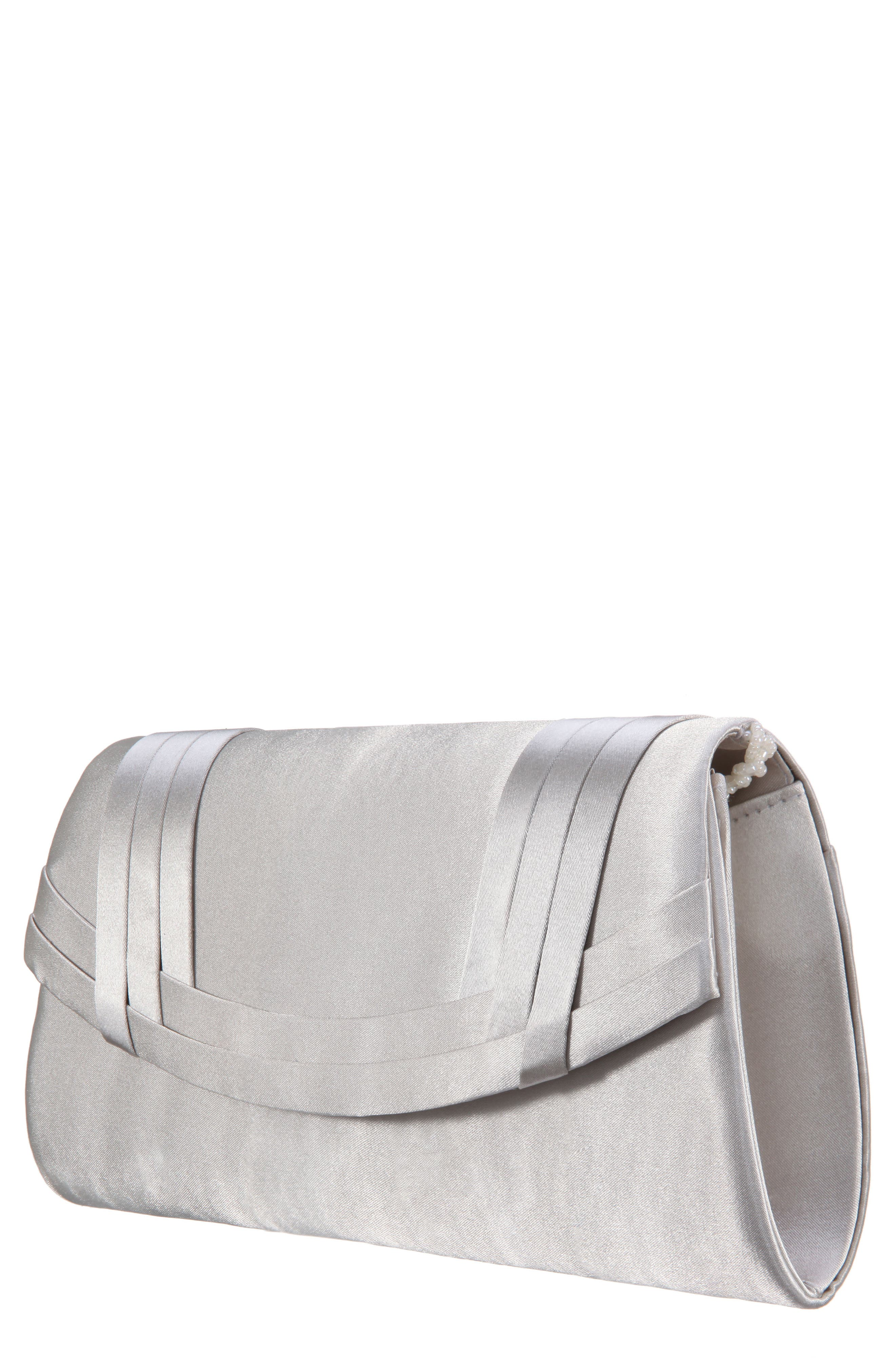 Avis Pleated Classic Clutch,                         Main,                         color, Oyster