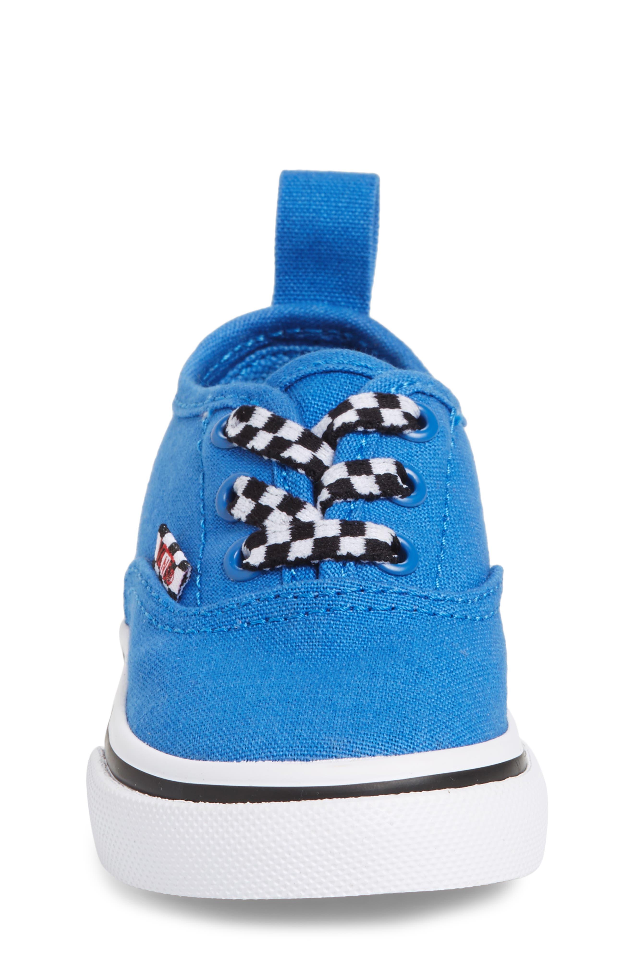 Authentic Sneaker,                             Alternate thumbnail 4, color,                             Blue/ White Check Lace