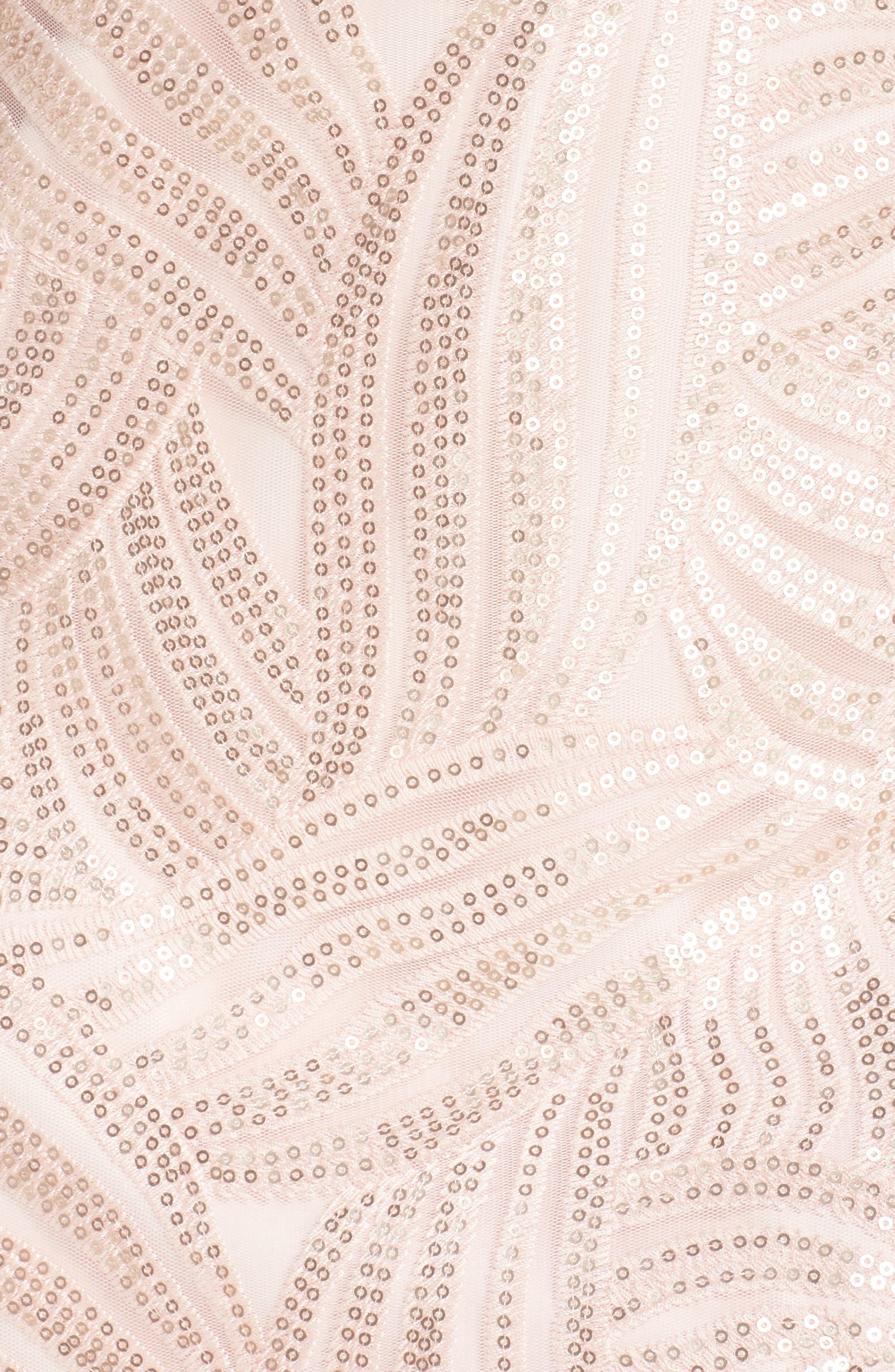 Sleeveless Sequin Sheath Dress,                             Alternate thumbnail 5, color,                             Light Pink