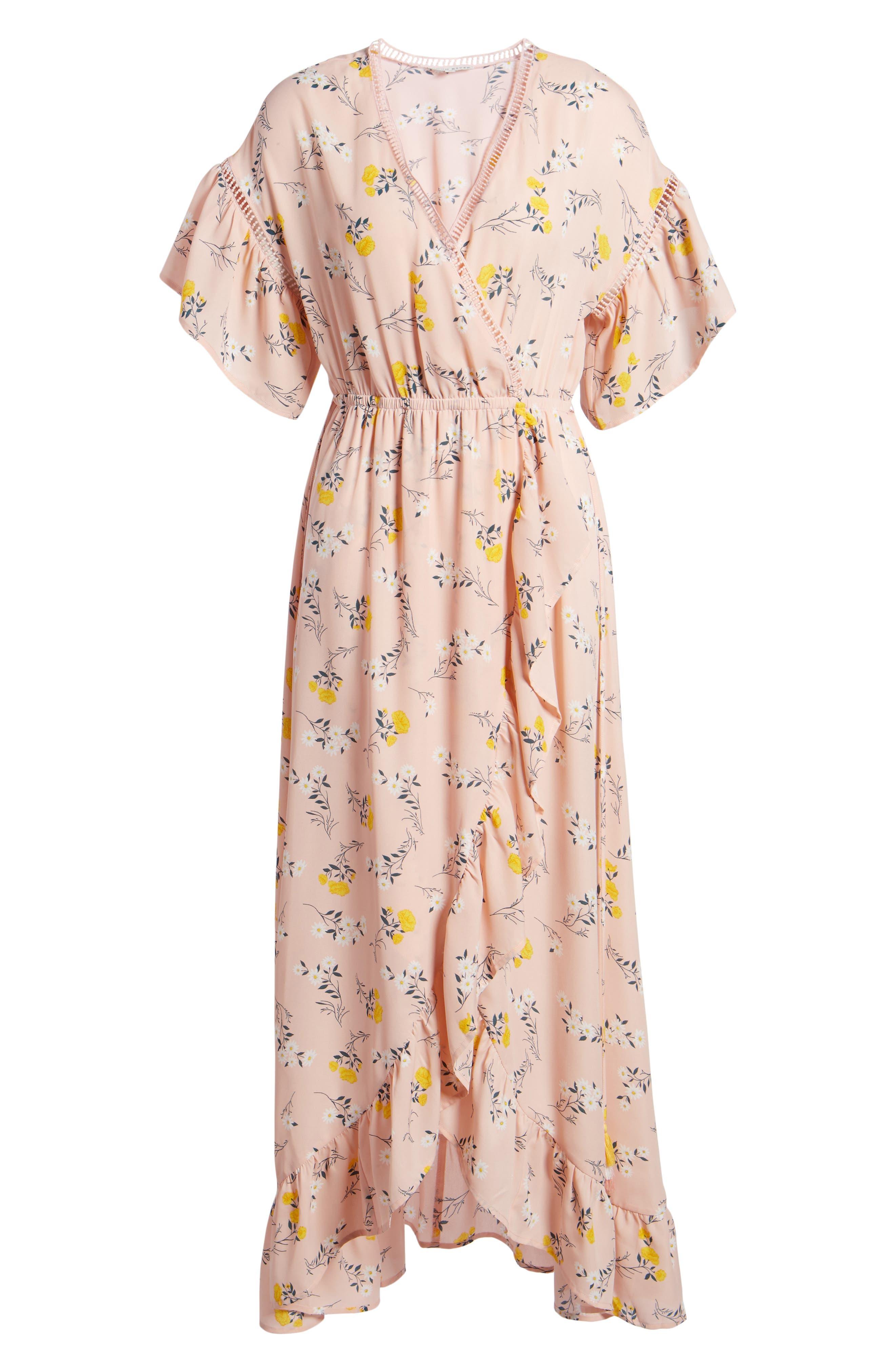 Alternate Image 6  - MOON RIVER Romance Floral Wrap Style Dress
