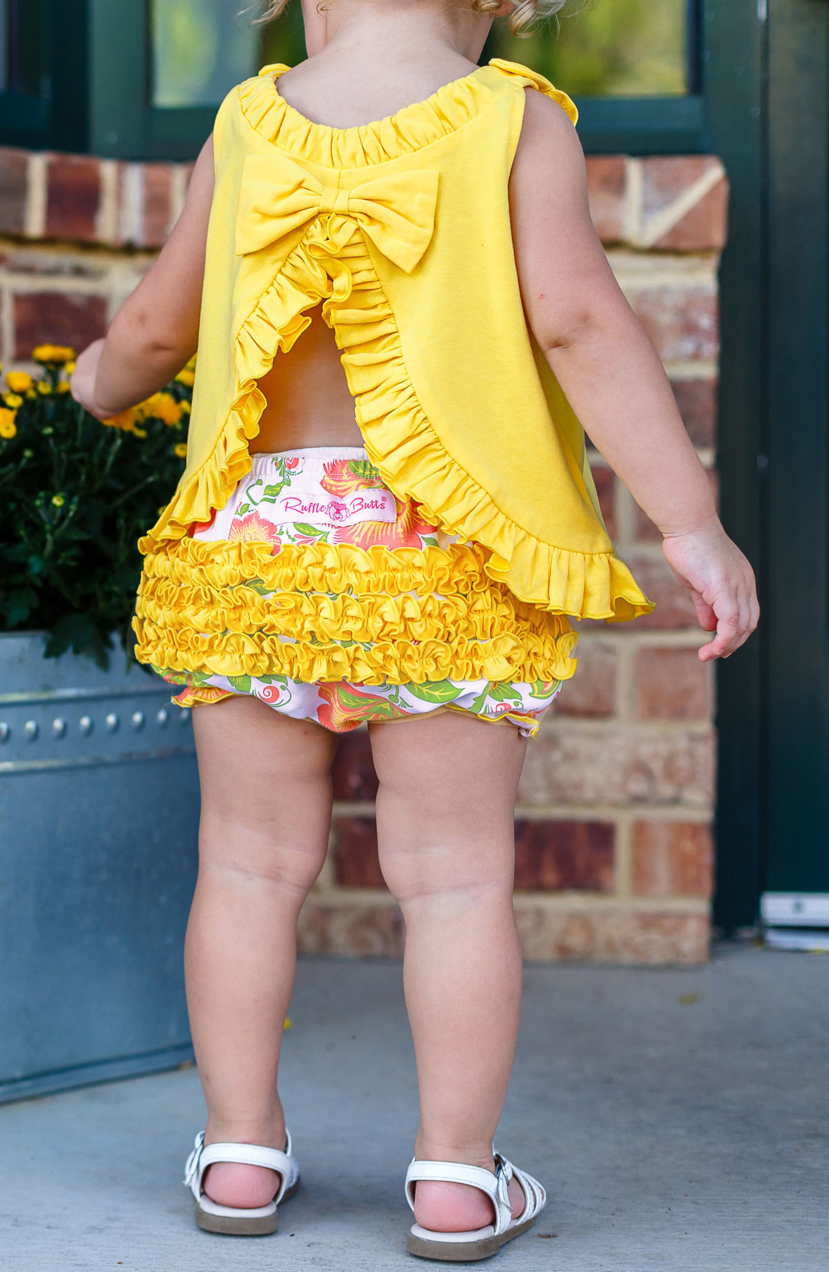 Ivy Lane Swing Top & Ruffle Bloomers Set,                             Alternate thumbnail 4, color,                             Yellow