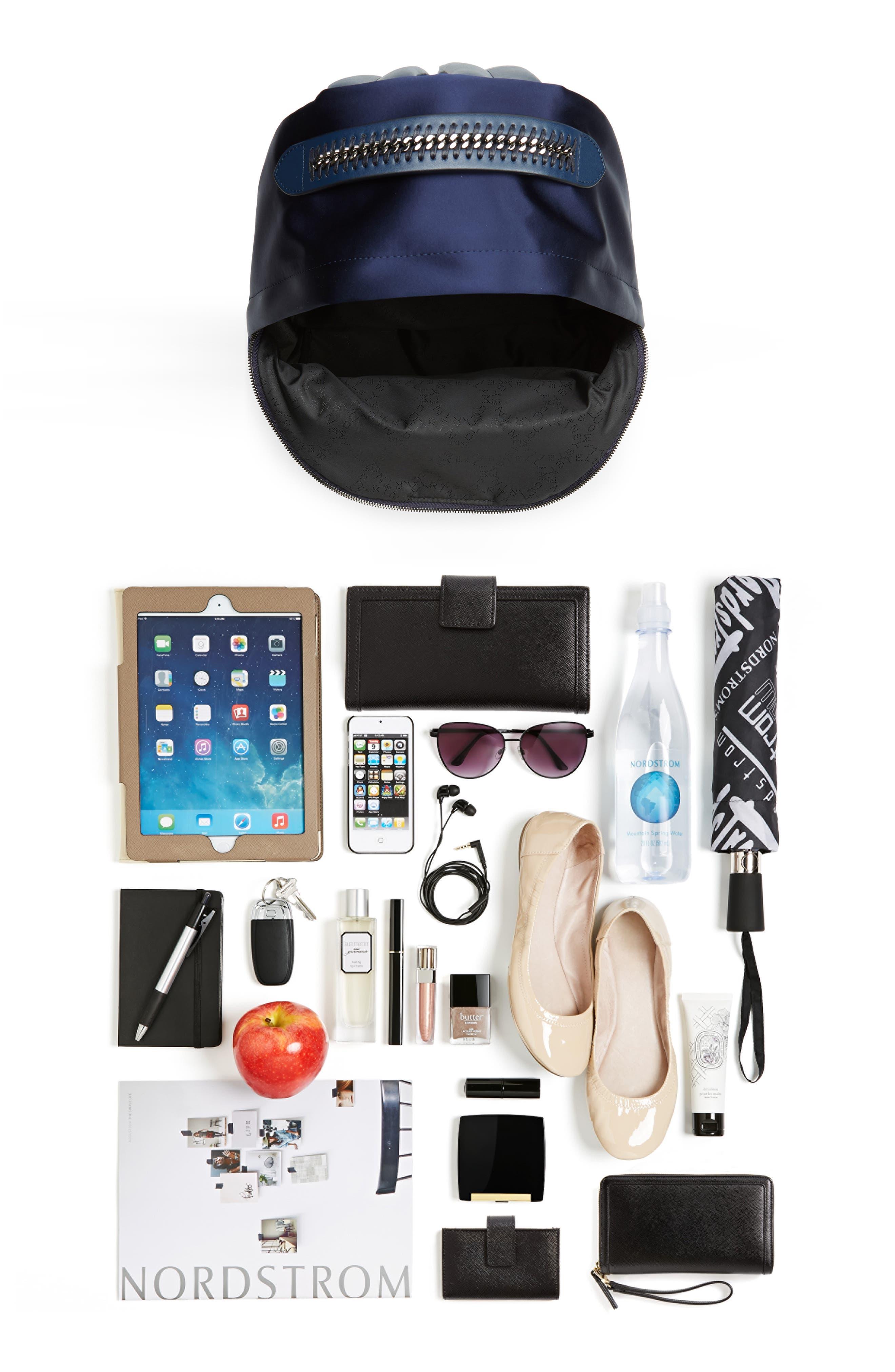 Alternate Image 7  - Stella McCartney Logo Embossed Satin Backpack