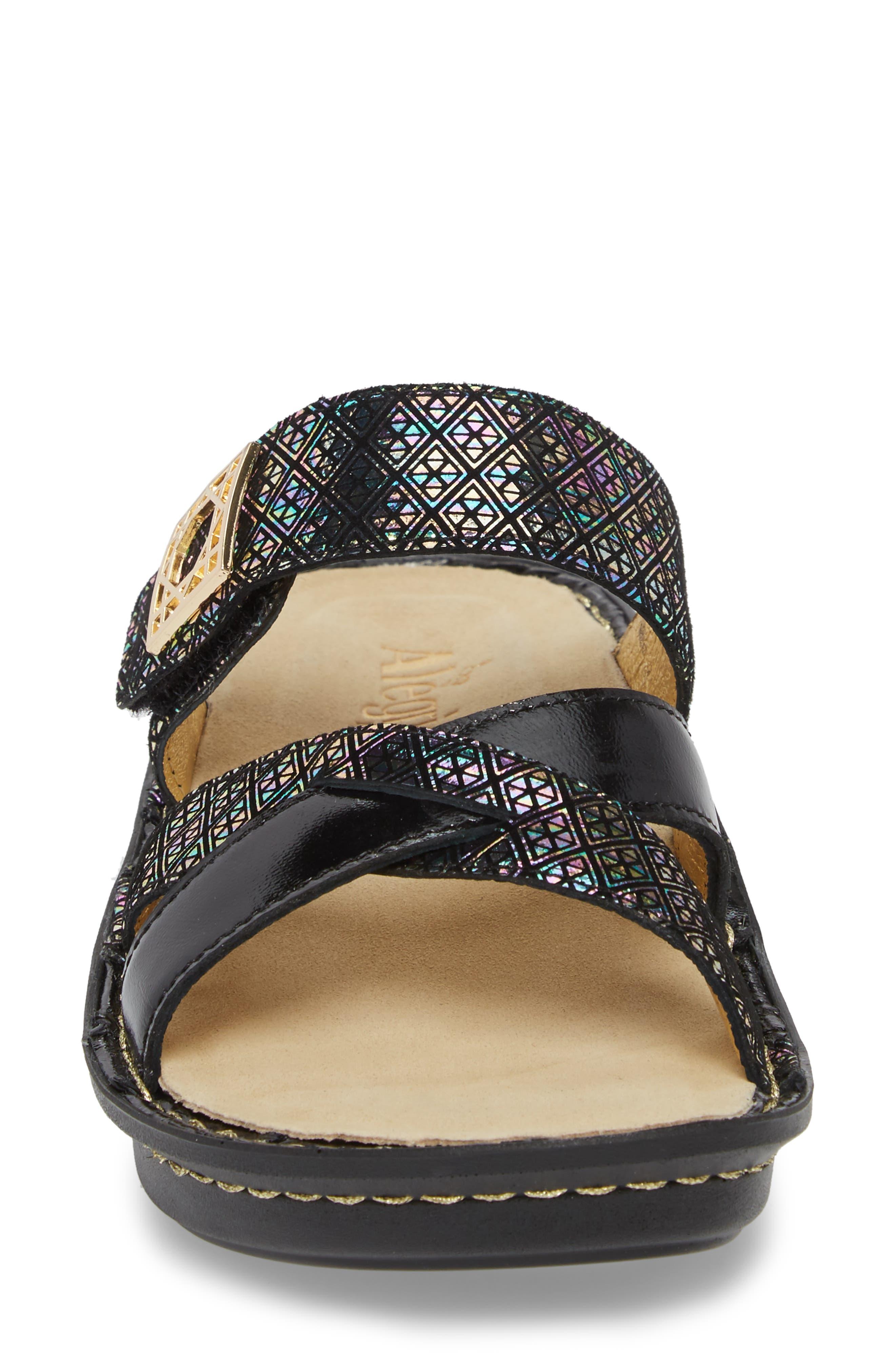 by PG Lite Victoriah Slide Sandal,                             Alternate thumbnail 4, color,                             Diamonds Forever Leather