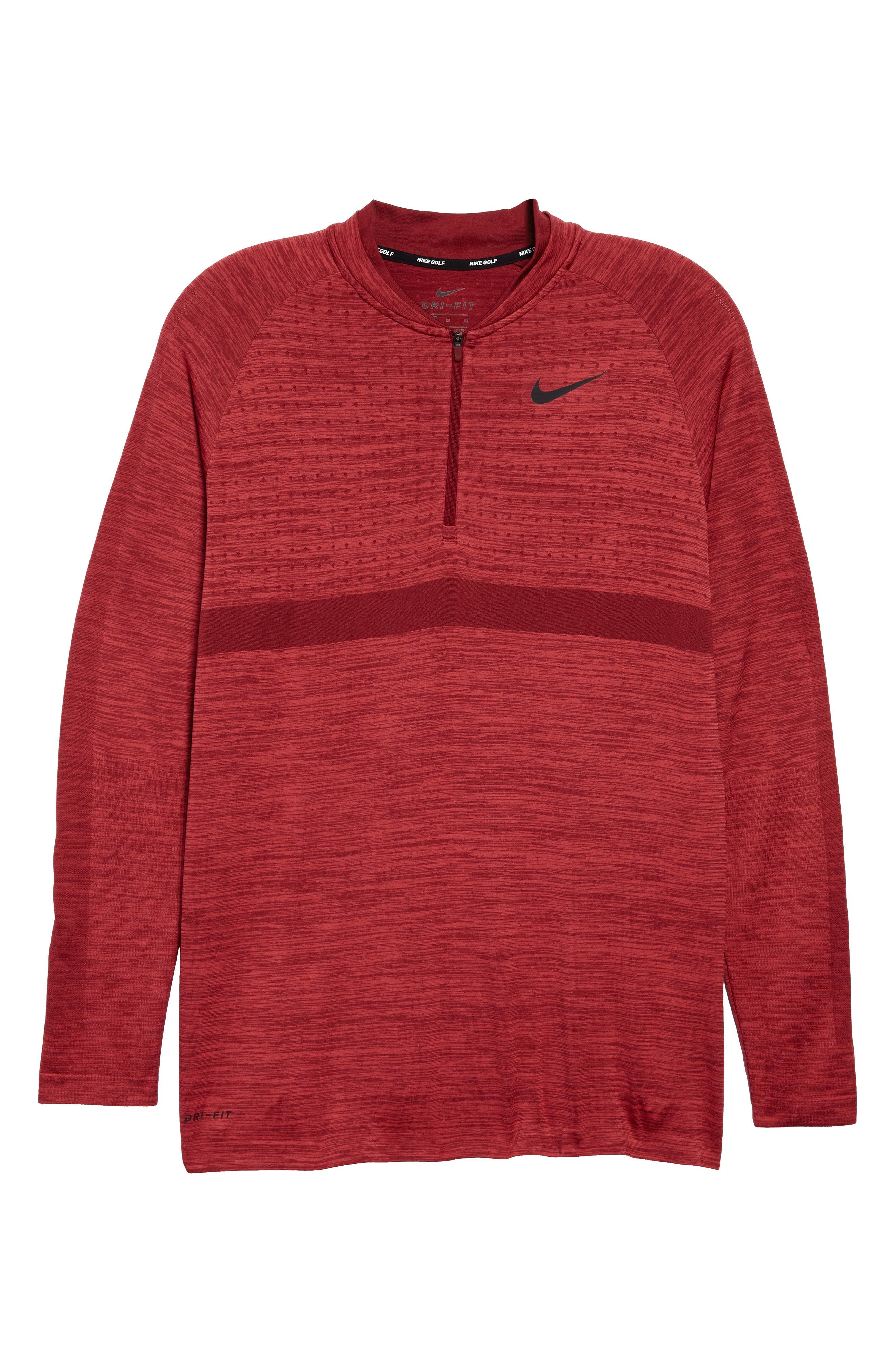 Dry Seamless Half Zip Golf Pullover,                             Alternate thumbnail 6, color,                             Tropical Pink/ Team Red/ Black