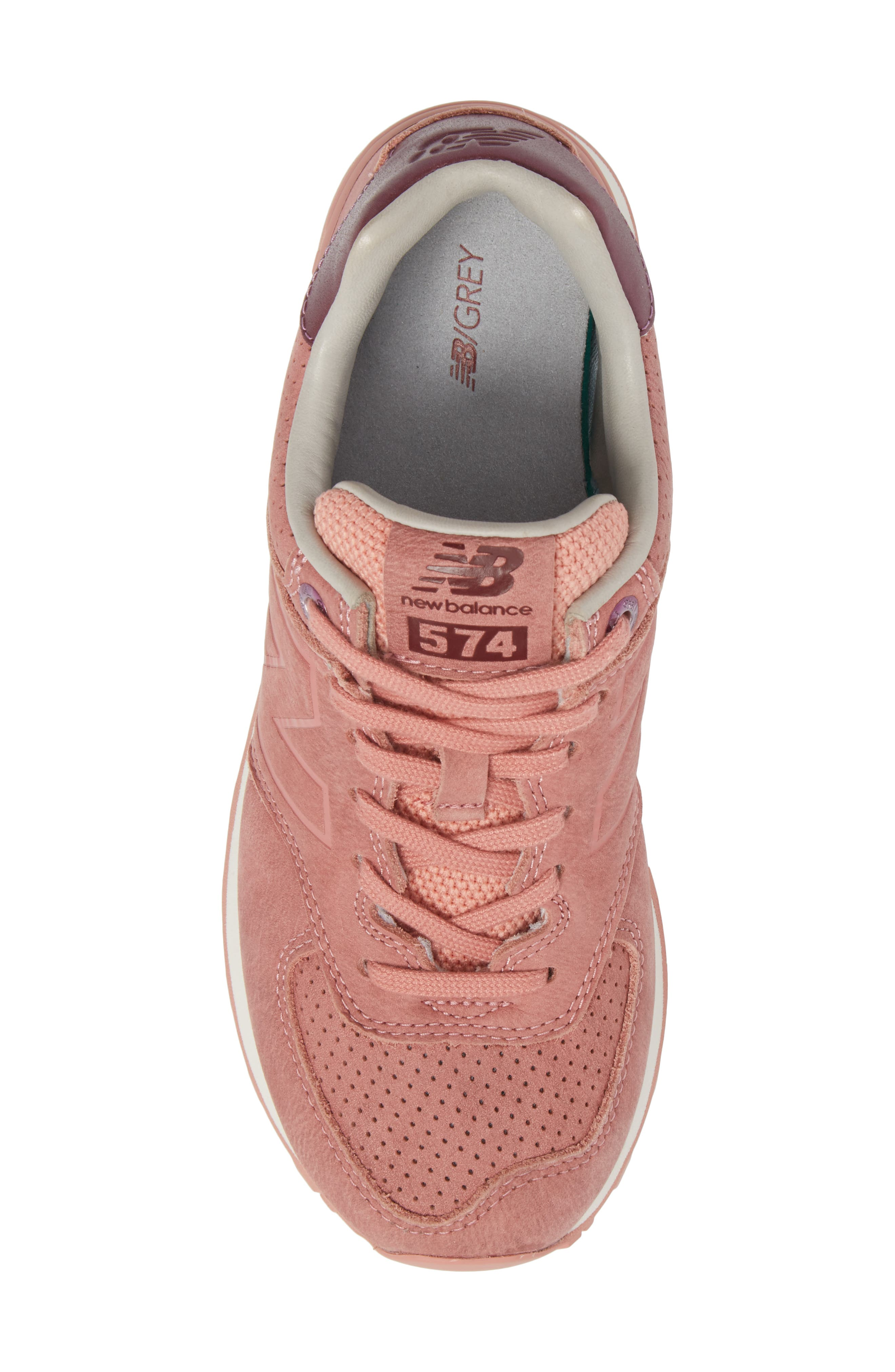 574 Sneaker,                             Alternate thumbnail 5, color,                             Dusted Peach