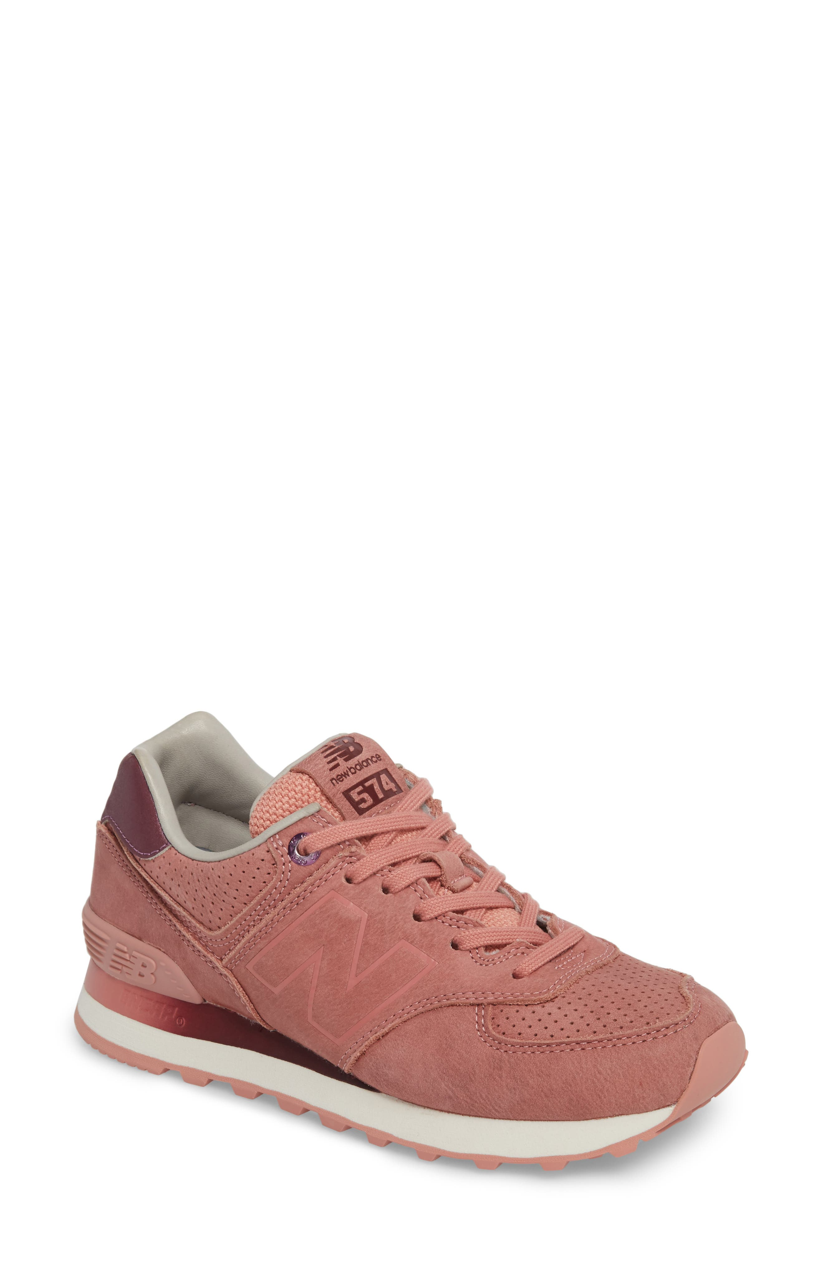 574 Sneaker,                             Main thumbnail 1, color,                             Dusted Peach