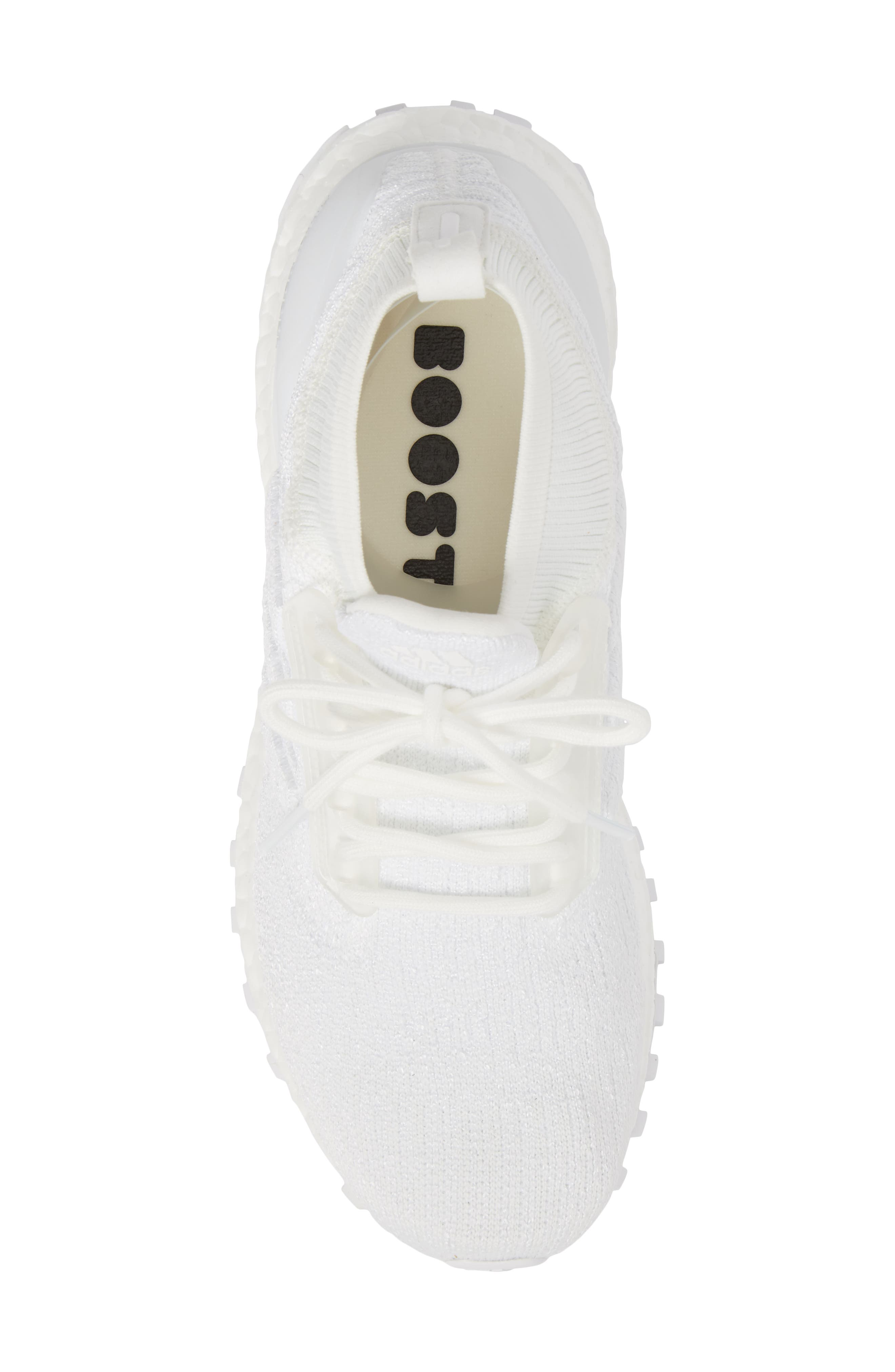 UltraBoost All Terrain Water Resistant Running Shoe,                             Alternate thumbnail 5, color,                             Non-Dyed White