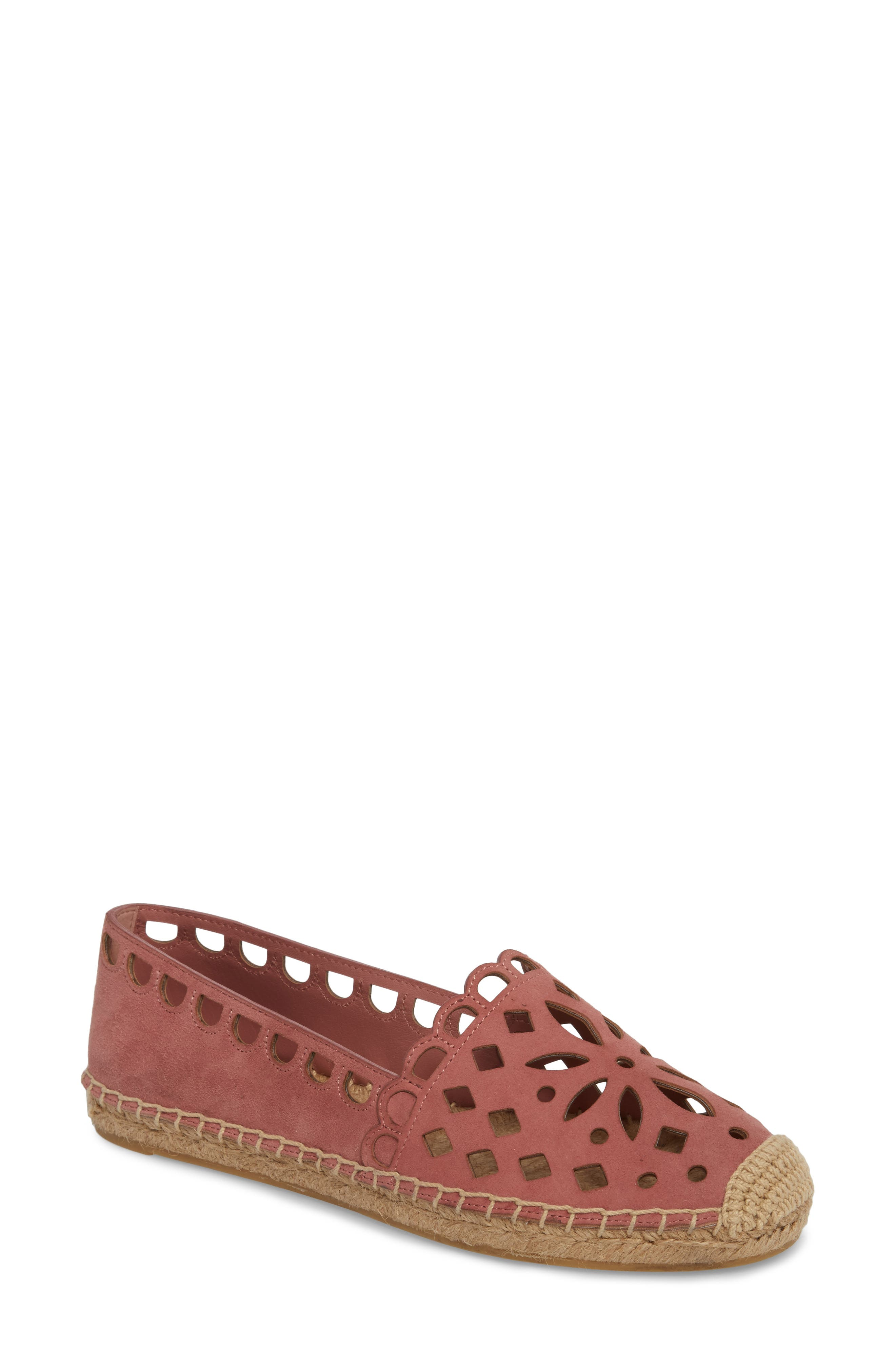 95418f48009 Tory Burch May Perforated Espadrille Flat In Pink Magnolia