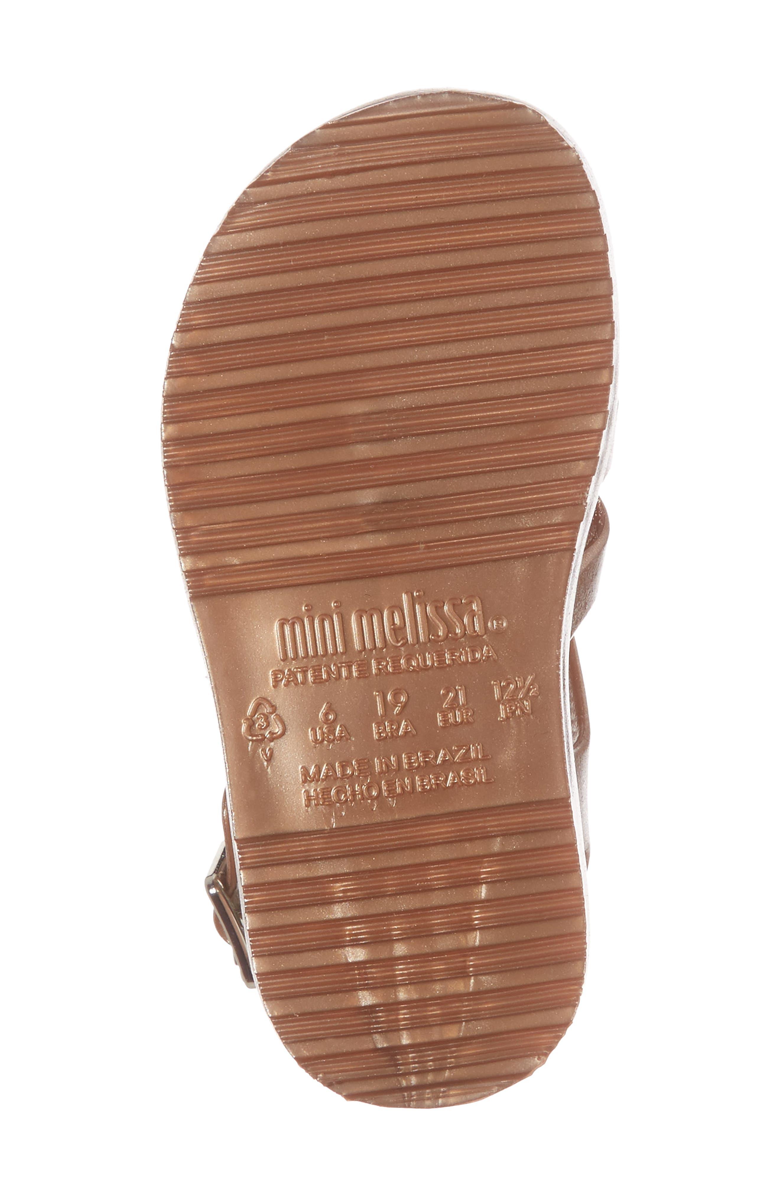 Mini Flox Shine Sandal,                             Alternate thumbnail 6, color,                             Rose Gold