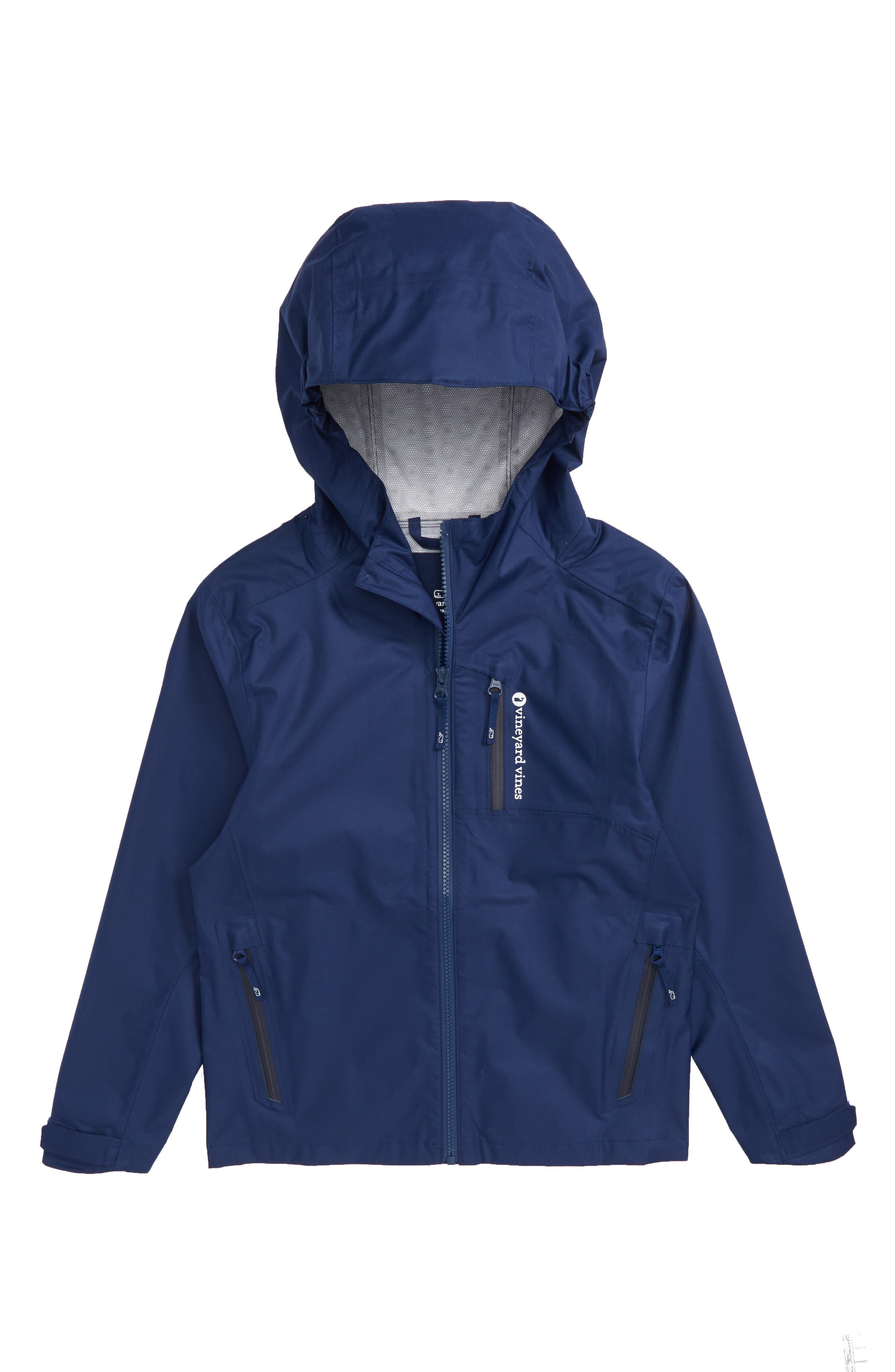 New Hooded Rain Jacket,                             Main thumbnail 1, color,                             Deep Bay