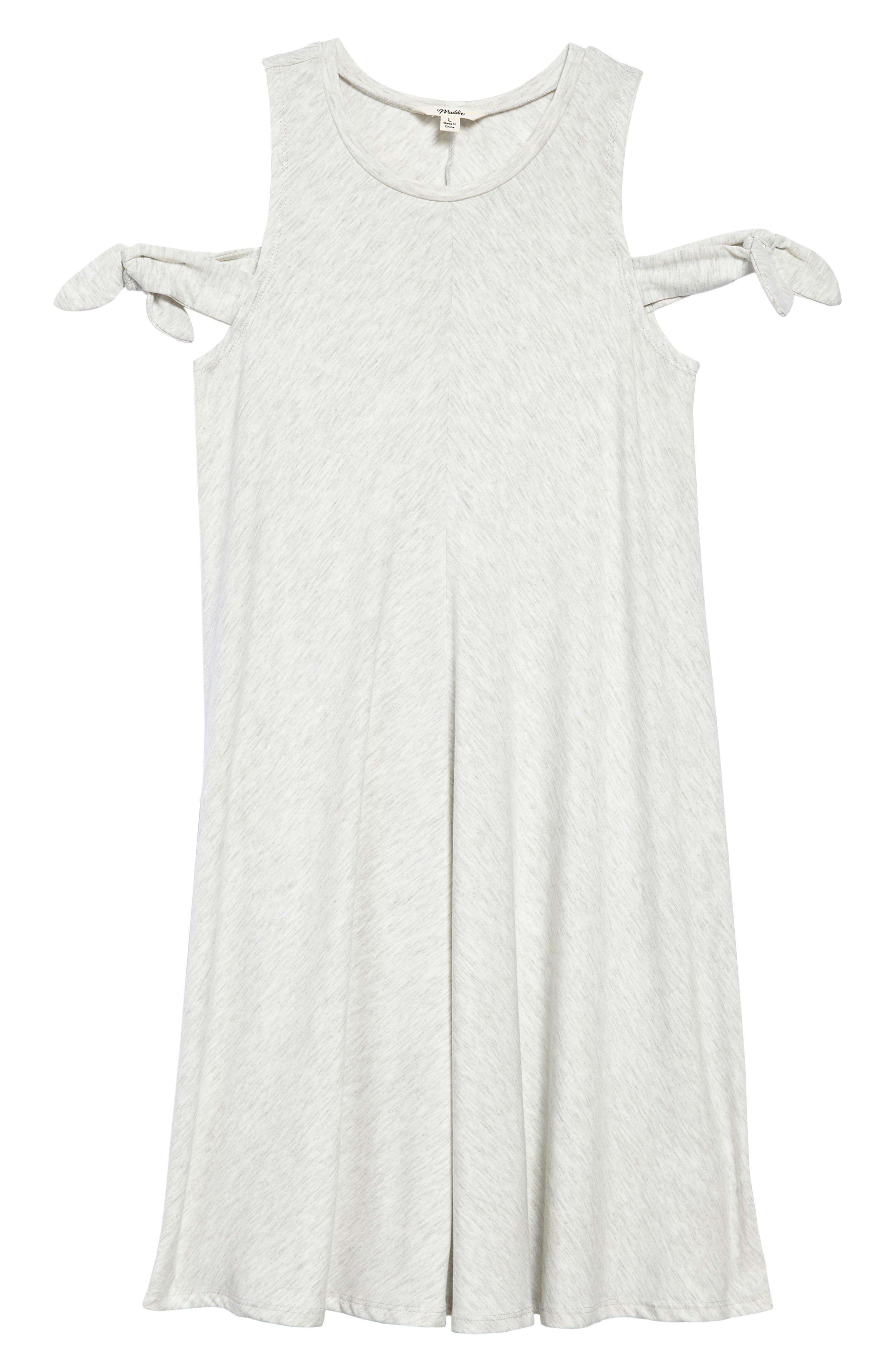 Main Image - Maddie Cold Shoulder Dress (Big Girls)