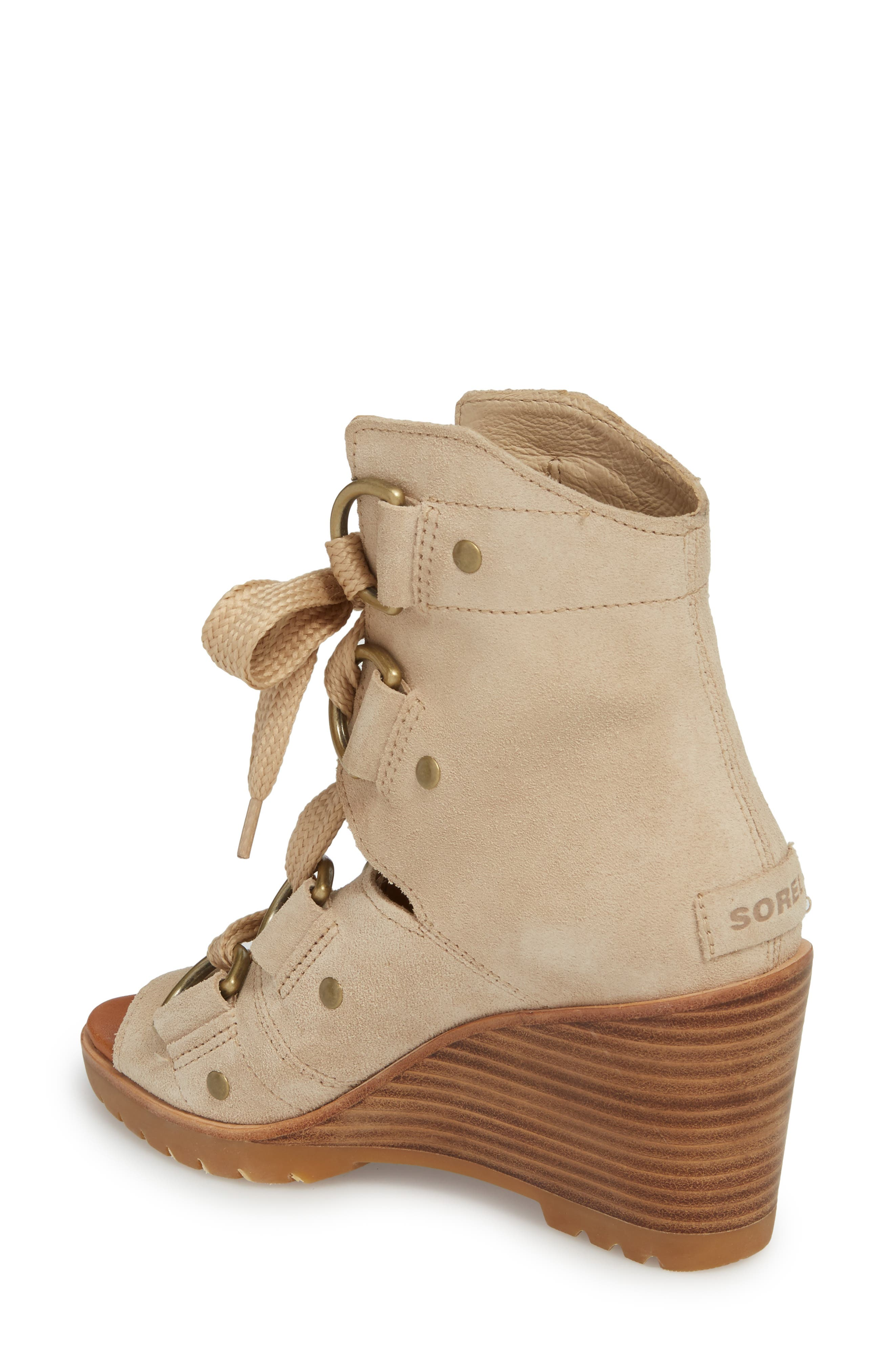 After Hours Wedge Bootie,                             Alternate thumbnail 2, color,                             Oatmeal