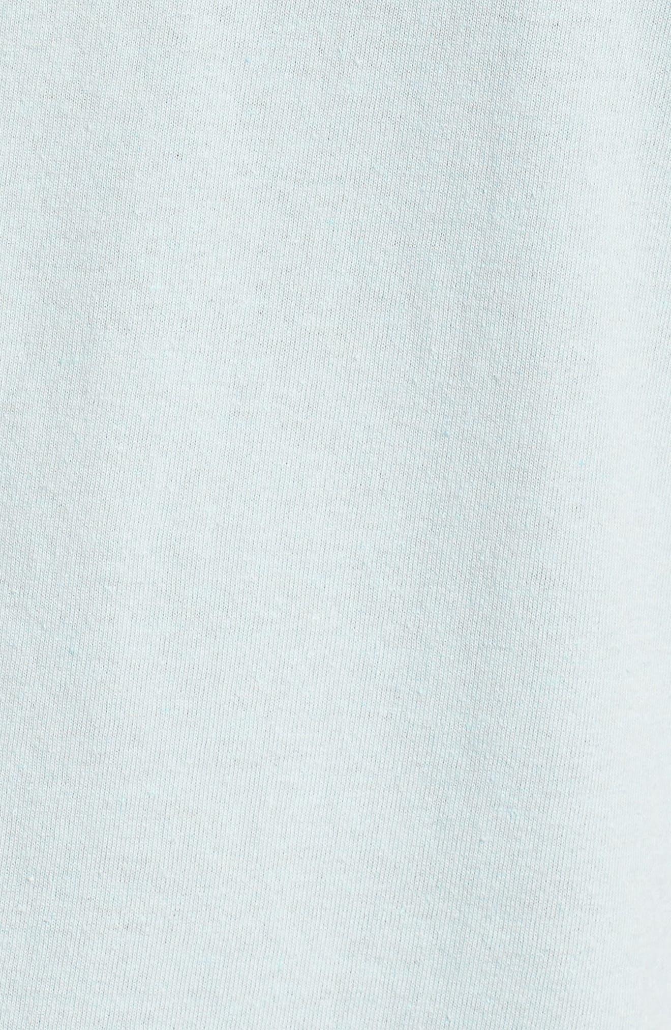 Crossboard Graphic T-Shirt,                             Alternate thumbnail 5, color,                             Light Aqua