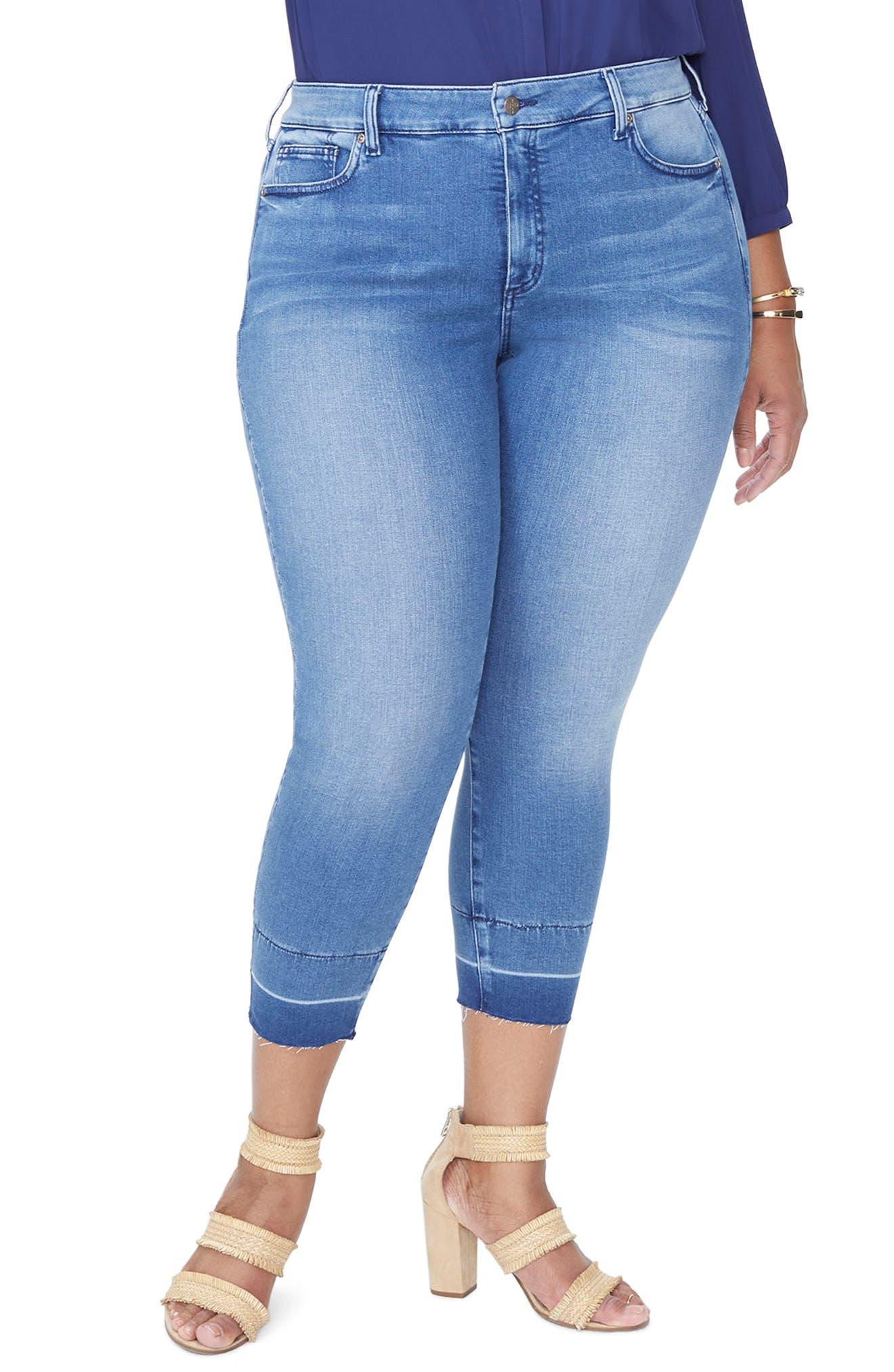 Alina Release Hem Ankle Skinny Jeans,                             Main thumbnail 1, color,                             Wishful