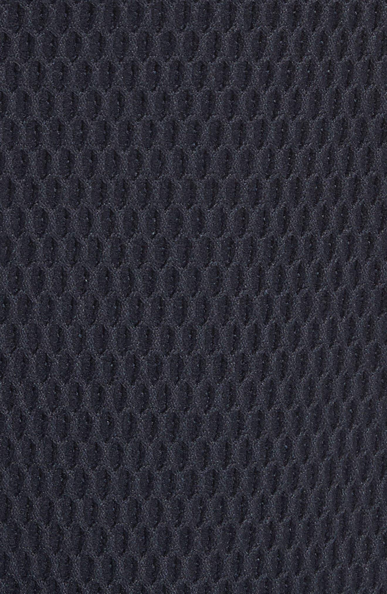 Honeycomb Knit Jersey Coat,                             Alternate thumbnail 5, color,                             Navy