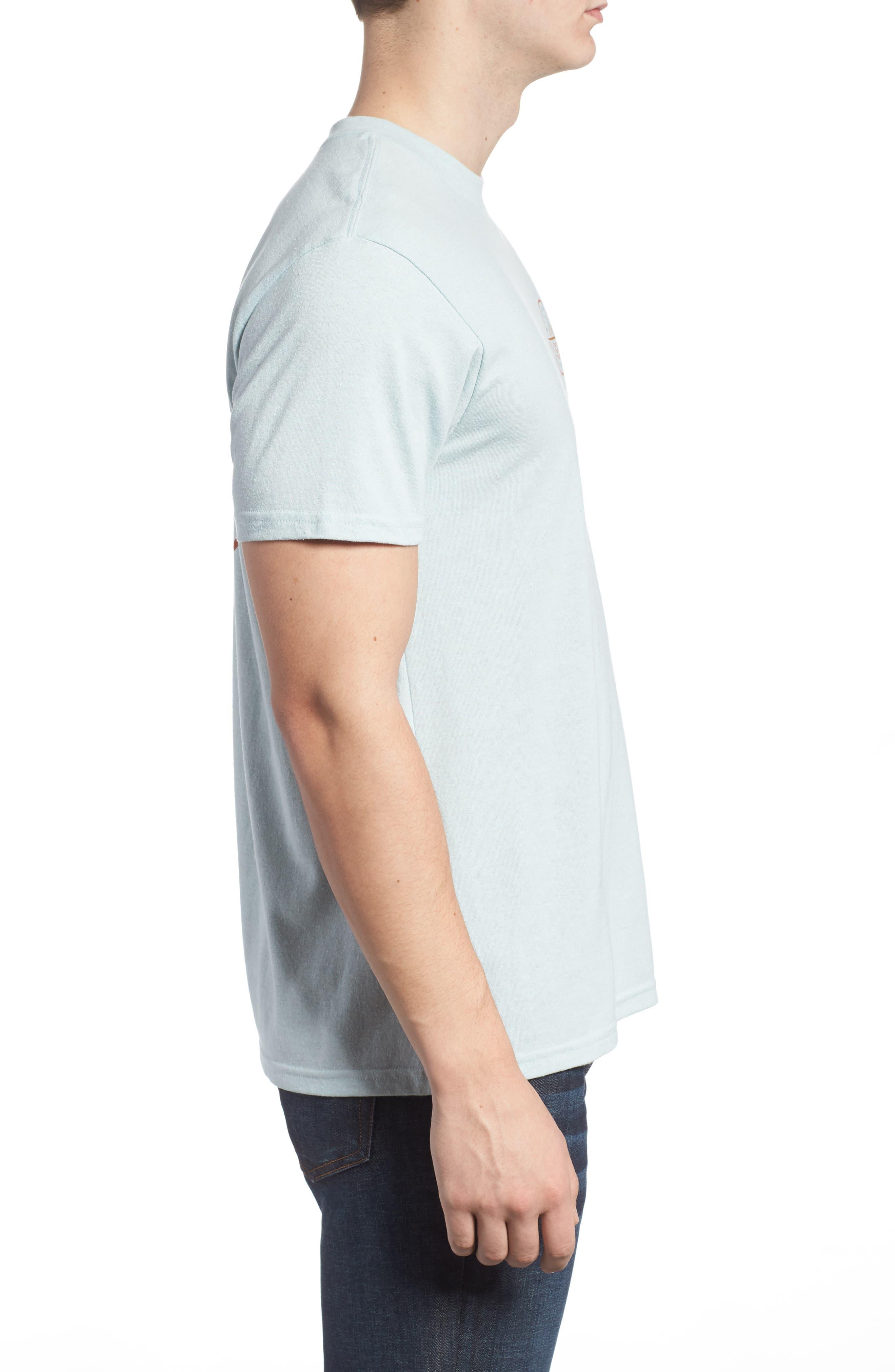 Crossboard Graphic T-Shirt,                             Alternate thumbnail 3, color,                             Light Aqua