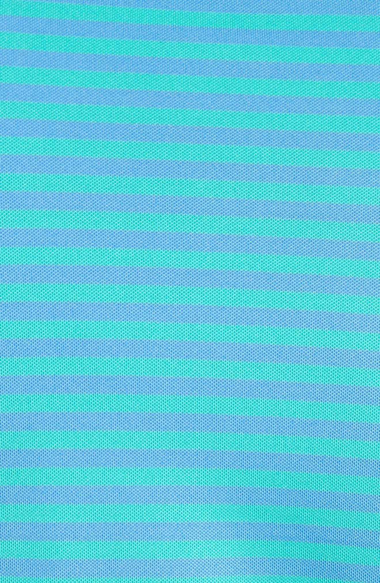 XH2O Feed Stripe Polo,                             Alternate thumbnail 5, color,                             Atlantis
