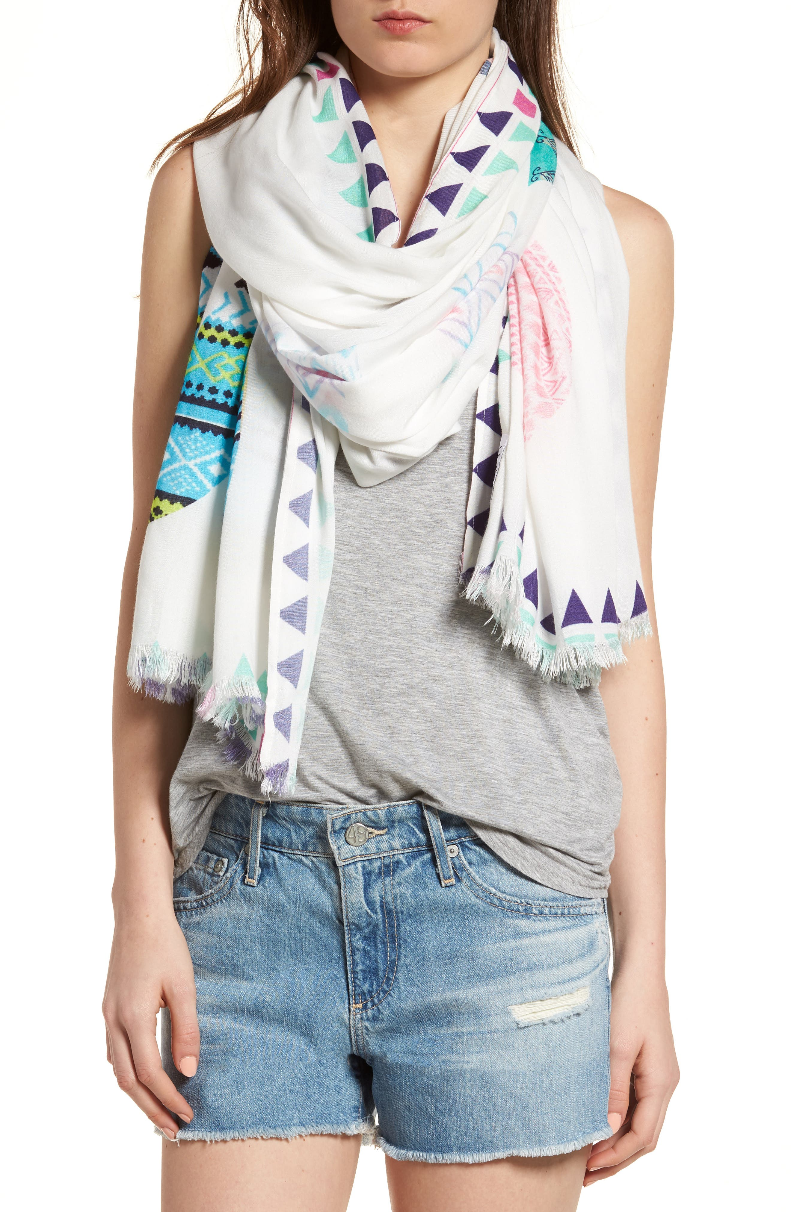 Wrap Yourself in Positive Vibes - Squad Scarf,                             Alternate thumbnail 4, color,                             White