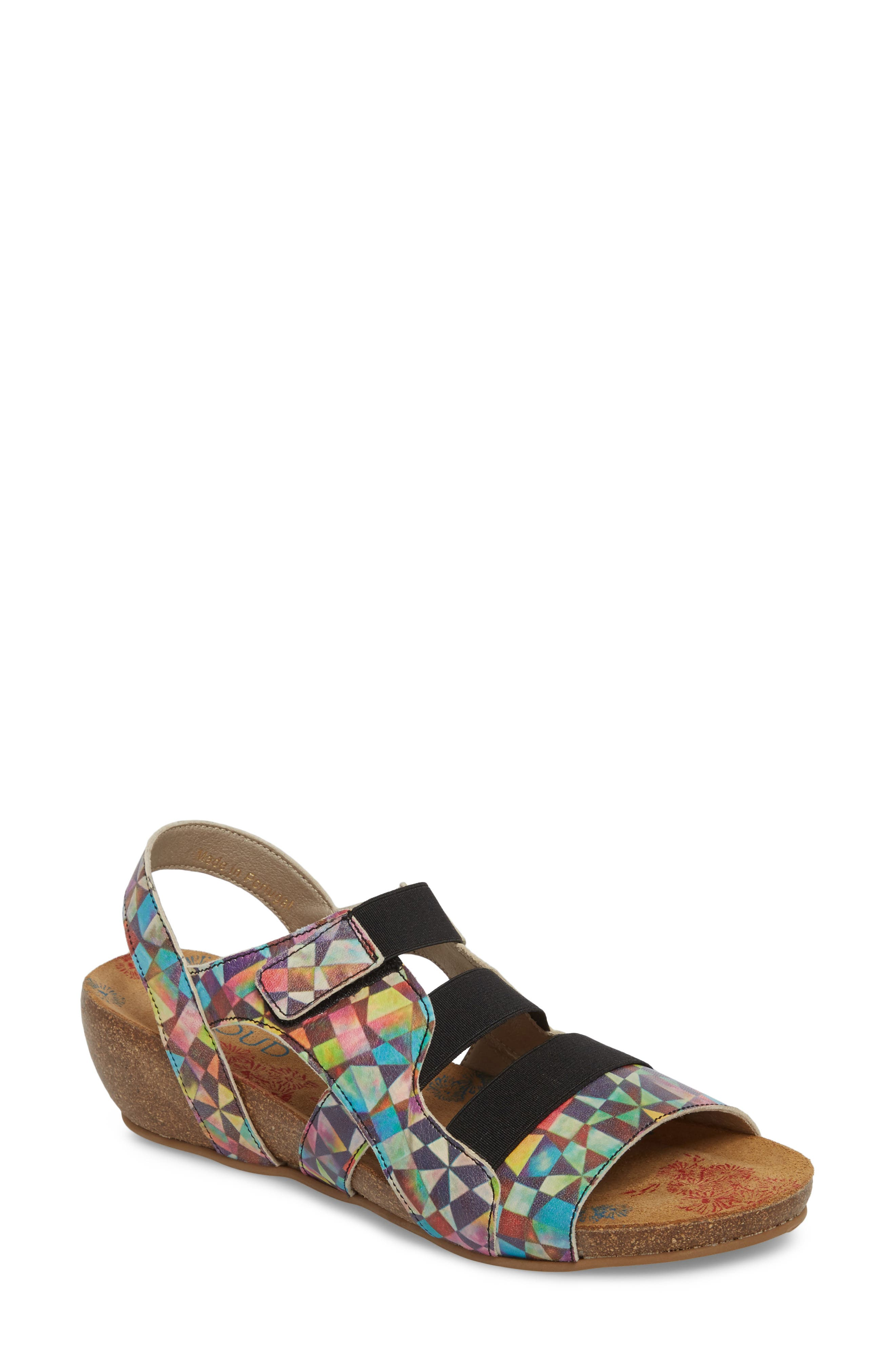 Duffy Wedge Sandal,                             Main thumbnail 1, color,                             Mystere Leather