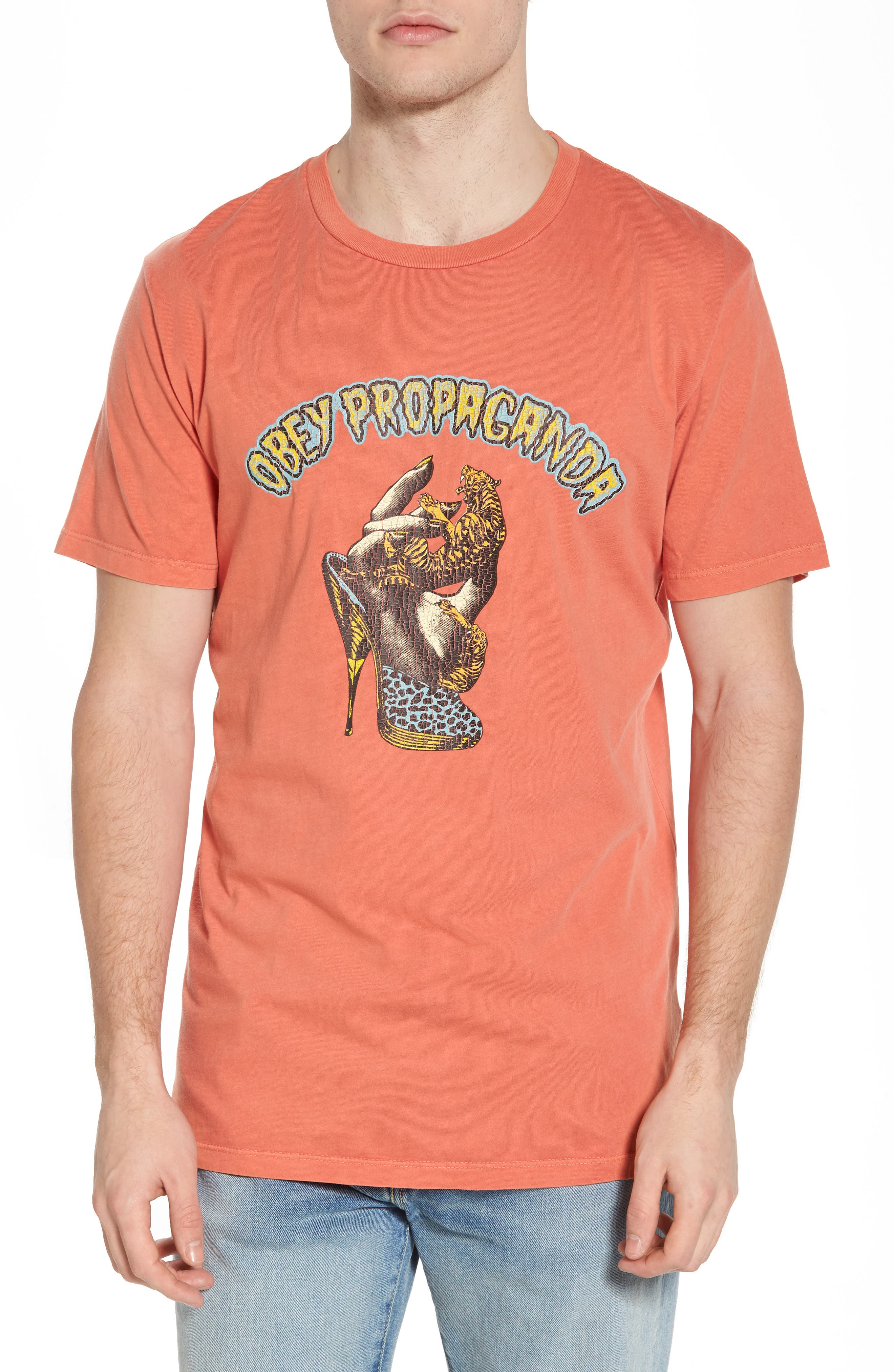 Dominance Graphic T-Shirt,                         Main,                         color, Dusty Paprika