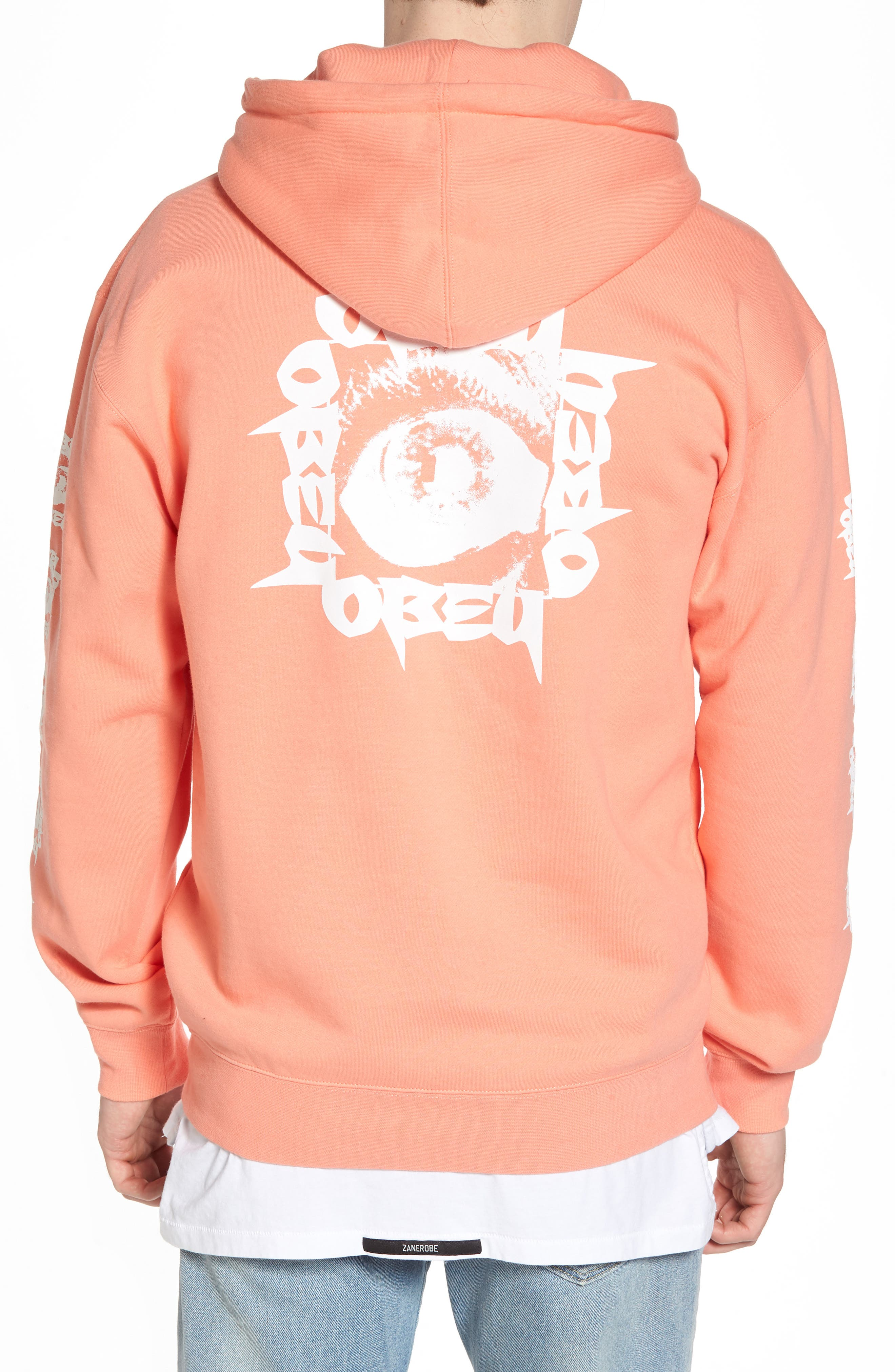 Tunnel Vision Hoodie Sweatshirt,                             Alternate thumbnail 2, color,                             Coral