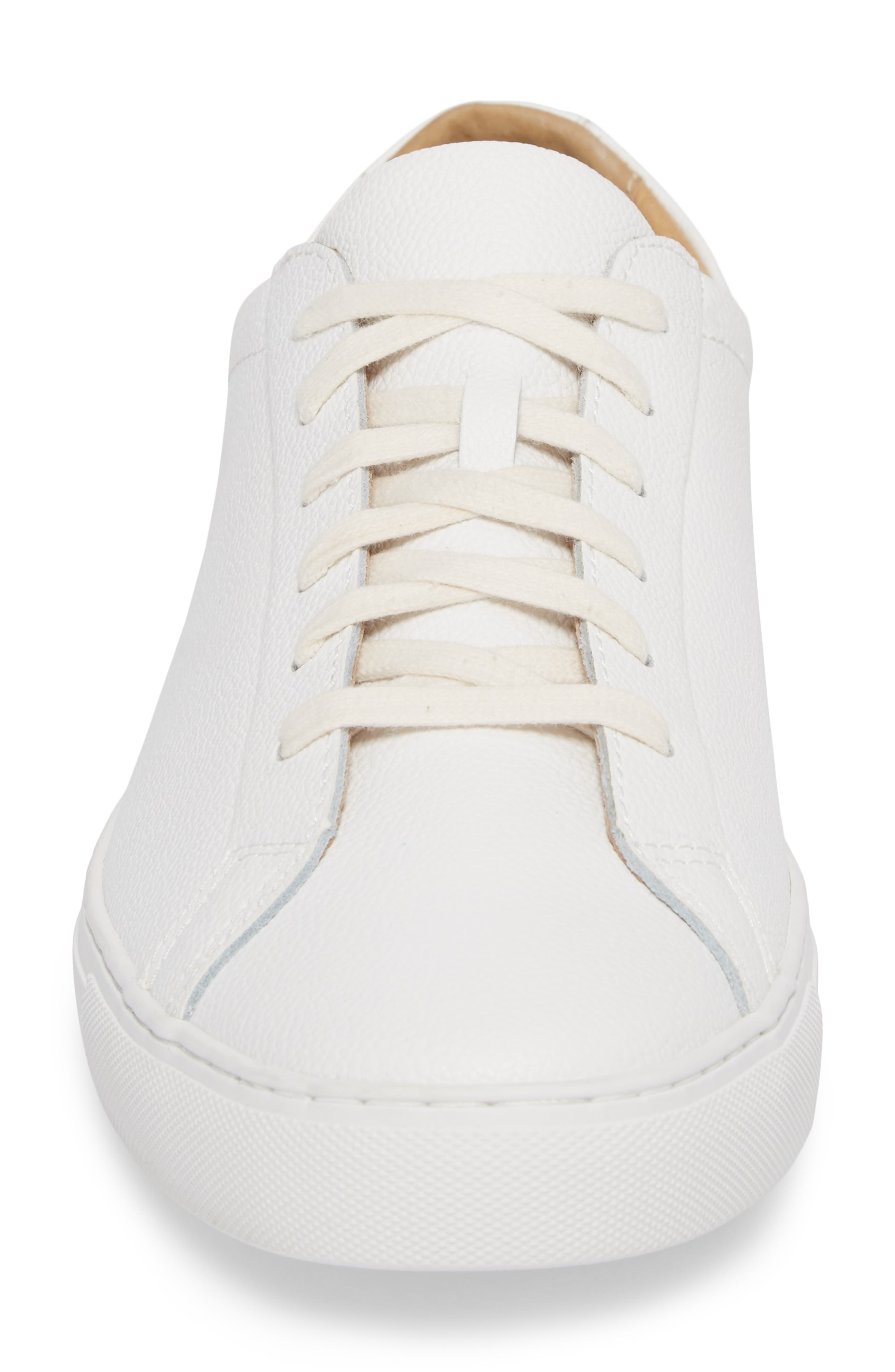 Kennedy Low Top Sneaker,                             Alternate thumbnail 4, color,                             White Leather