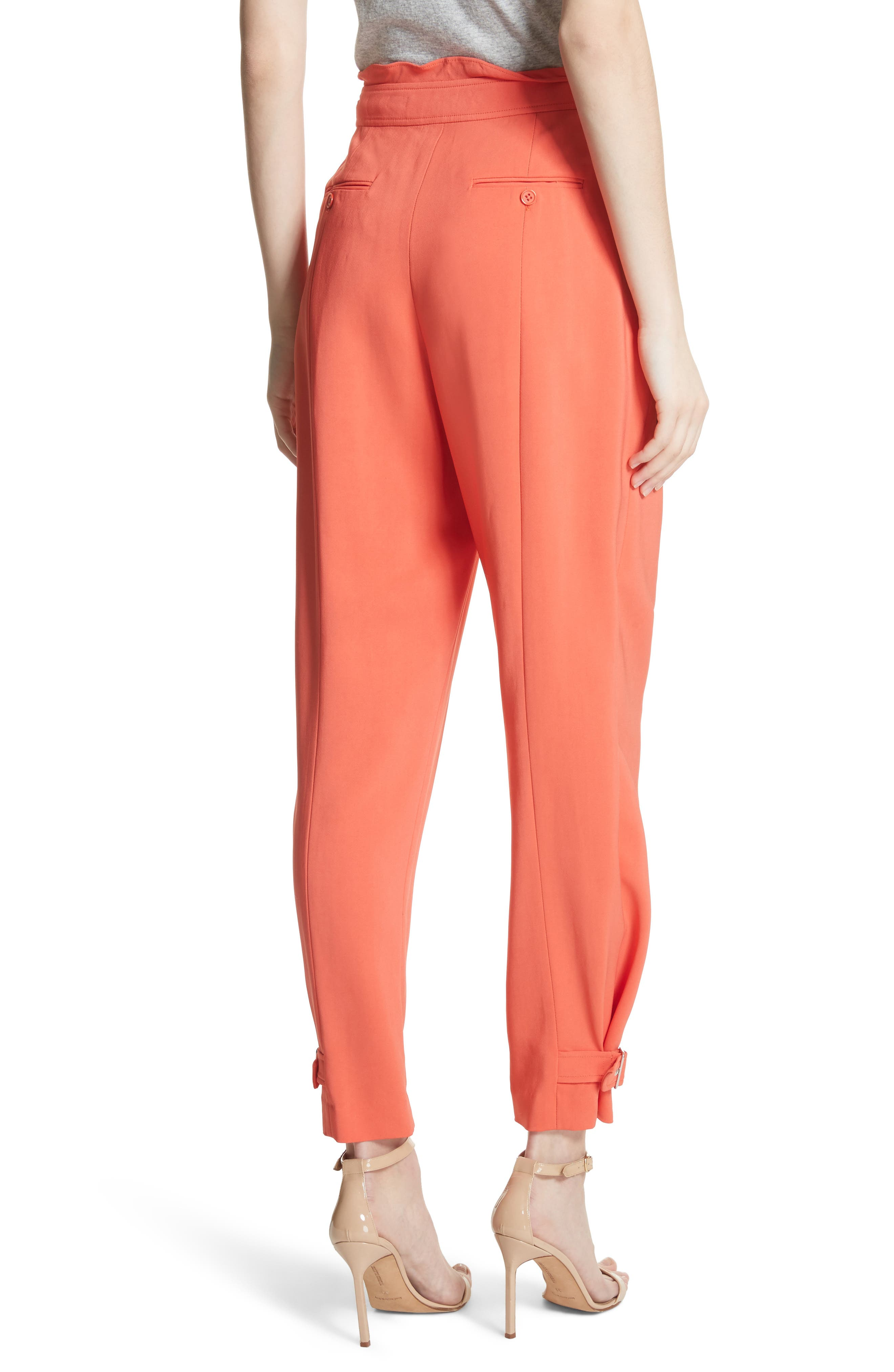 Belted Trousers,                             Alternate thumbnail 2, color,                             Blood Orange