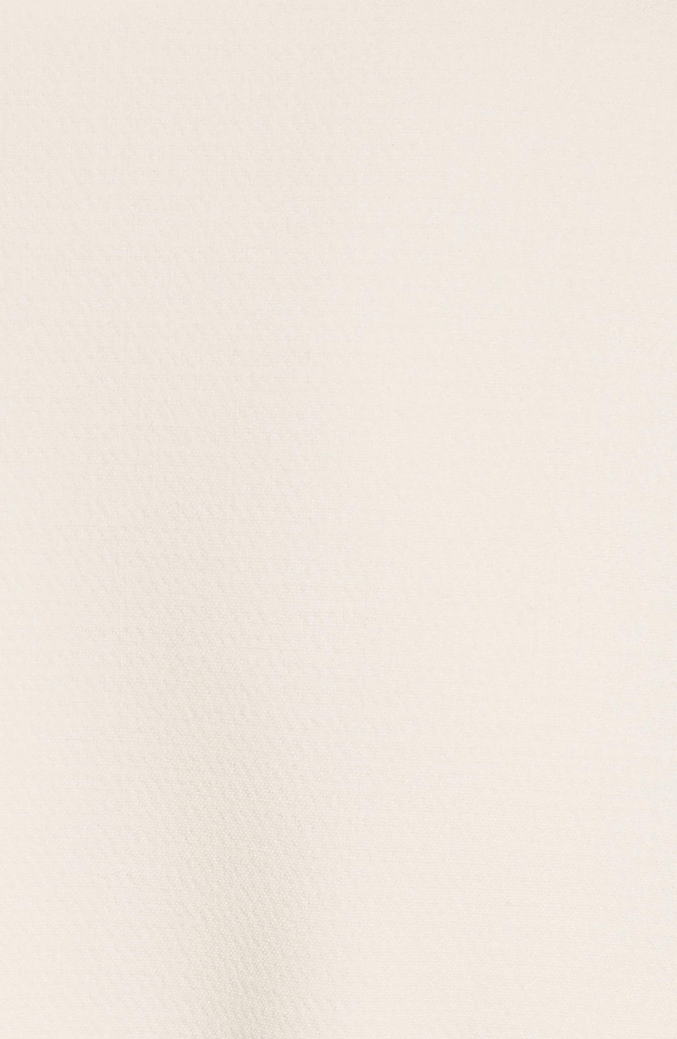 Tie Sleeve Wool Blend Sheath Dress,                             Alternate thumbnail 6, color,                             White