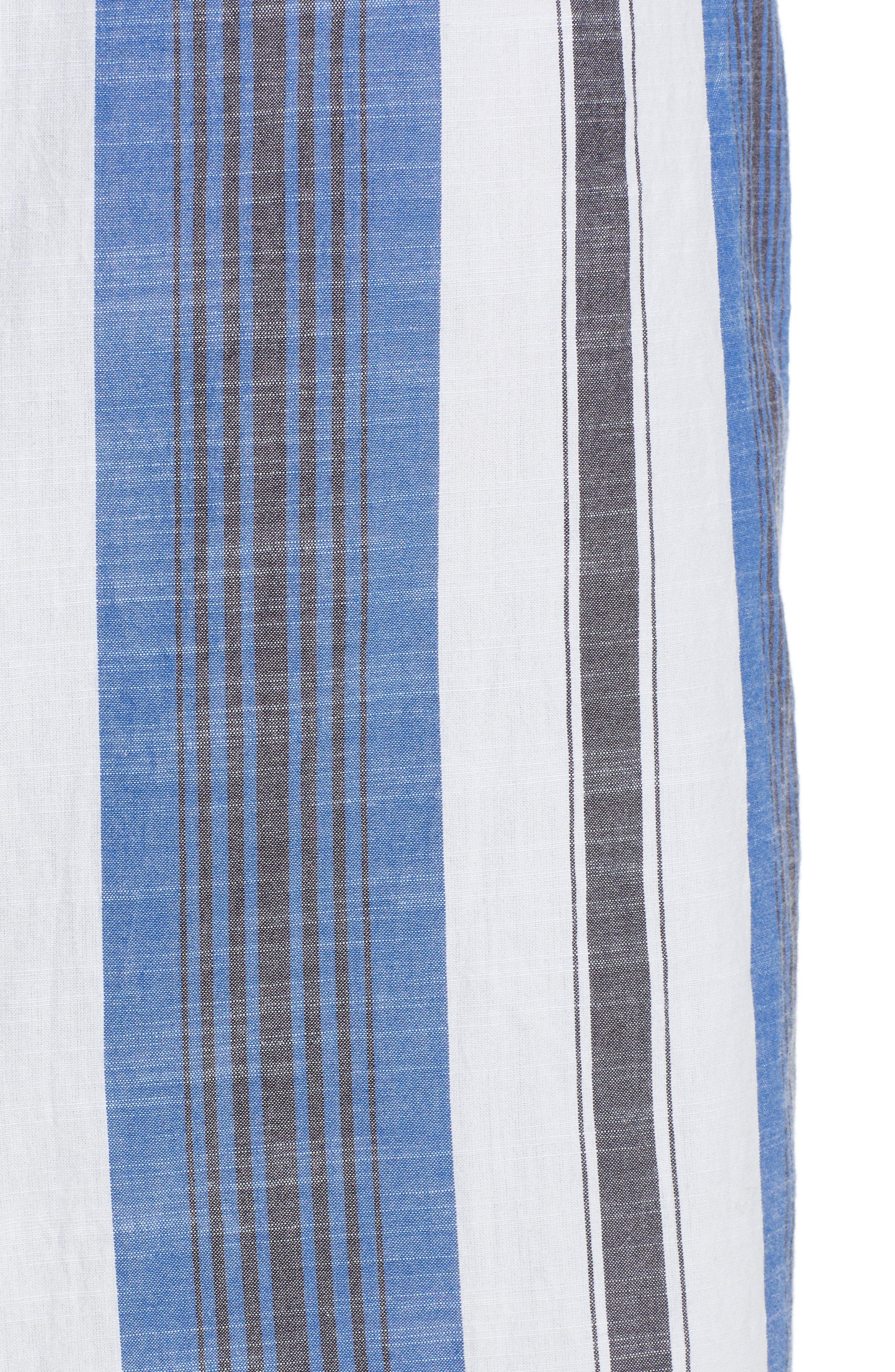 Stripe Cotton Sundress,                             Alternate thumbnail 5, color,                             Blue Multi