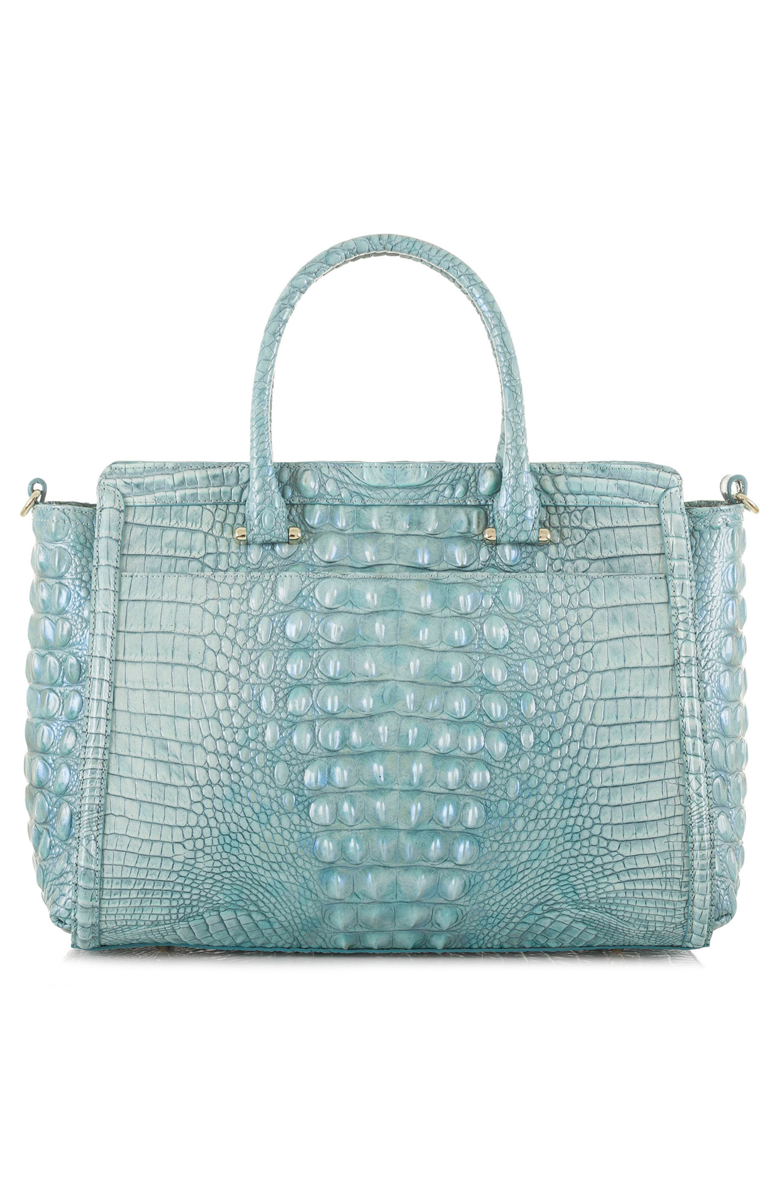 Harper Embossed Leather Satchel,                             Alternate thumbnail 2, color,                             Astral