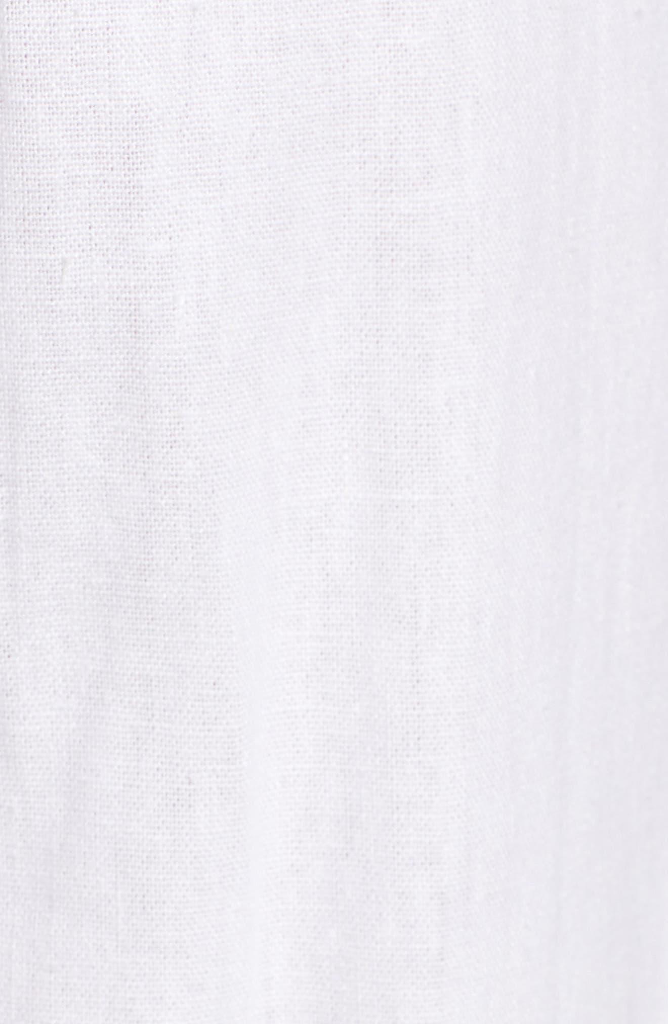 Imara Linen Blend Pants,                             Alternate thumbnail 6, color,                             White