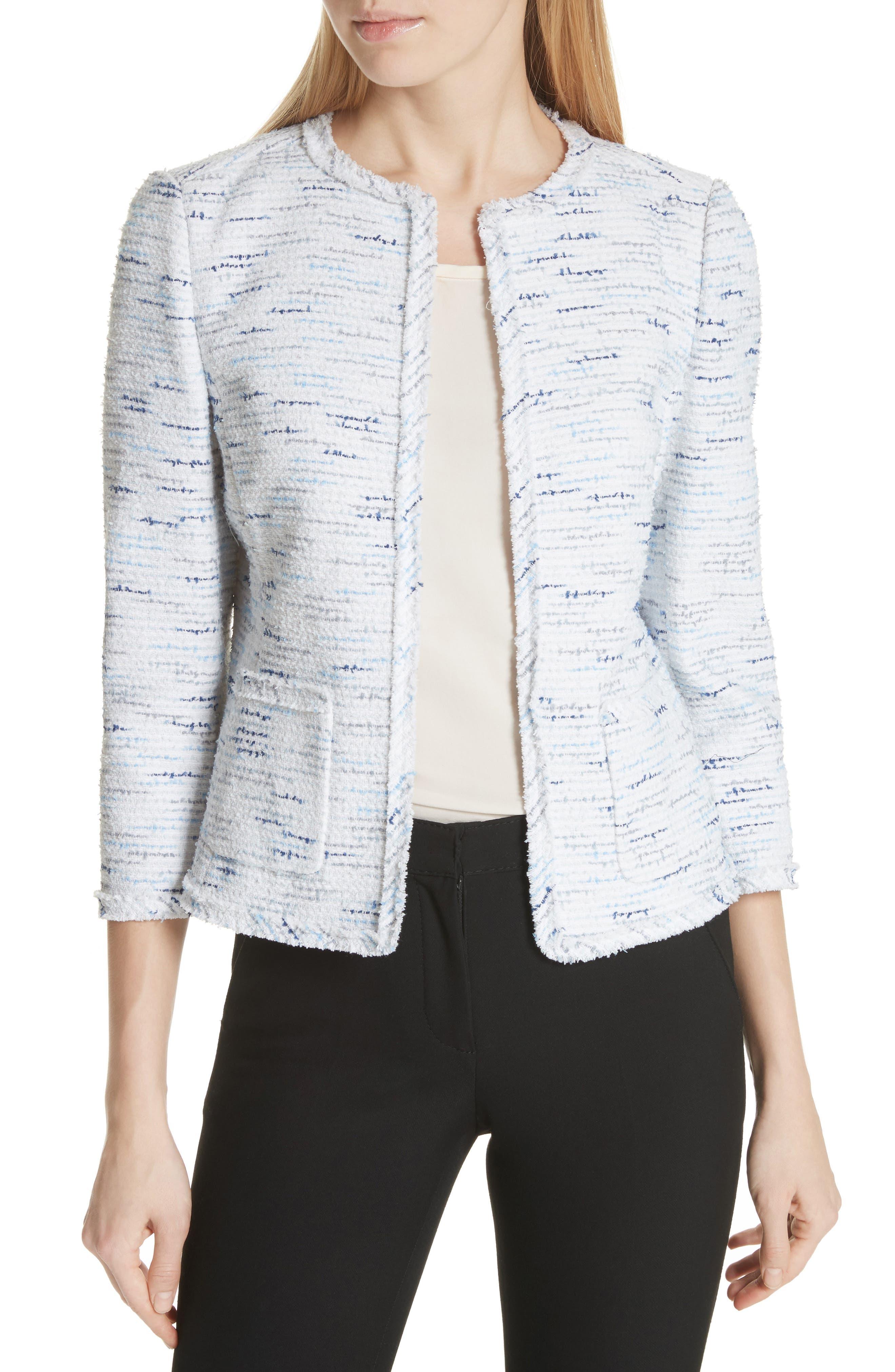 tweed jacket,                             Main thumbnail 1, color,                             Multi