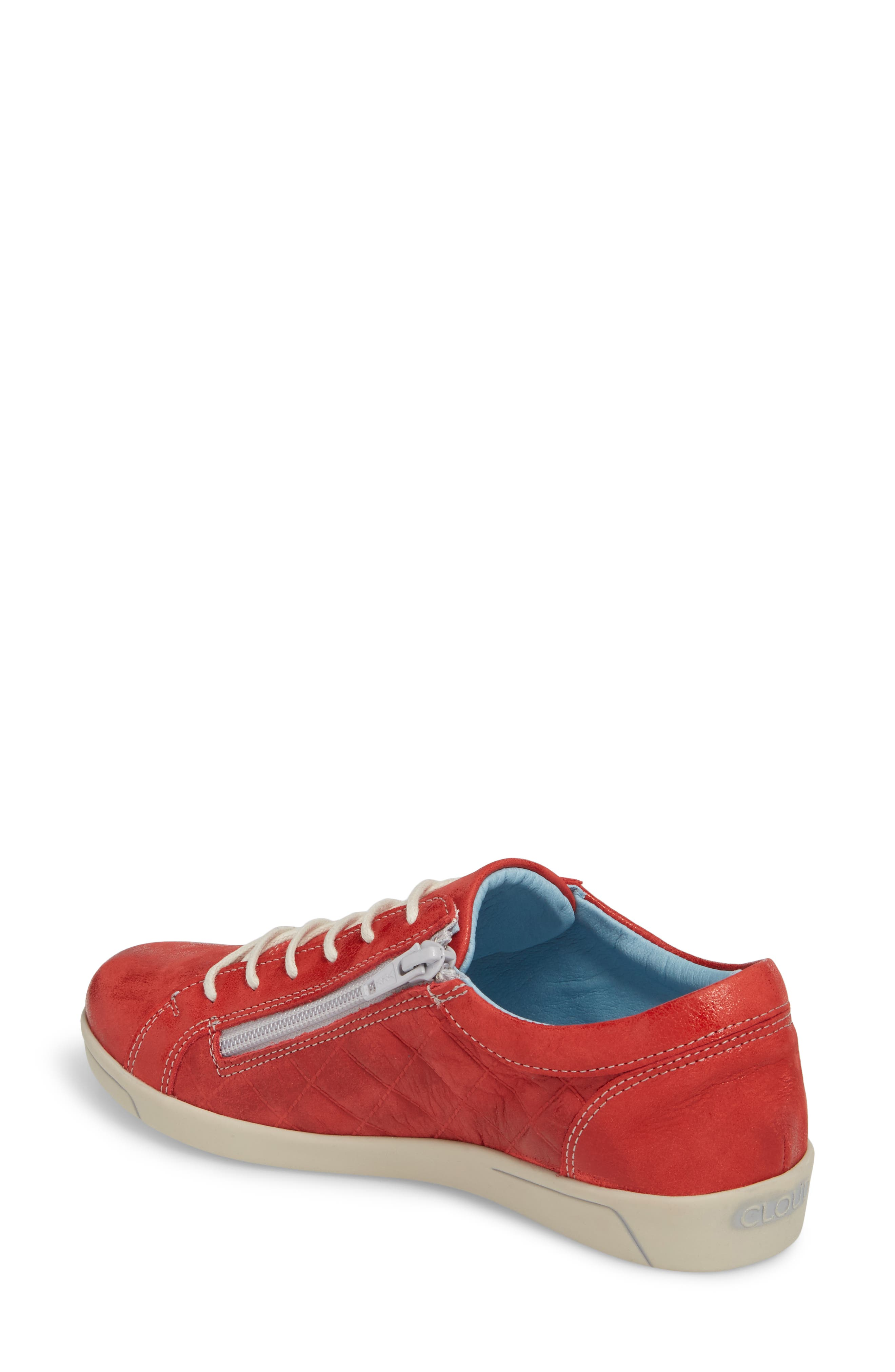 Alessia Sneaker,                             Alternate thumbnail 2, color,                             Red Stinger Leather