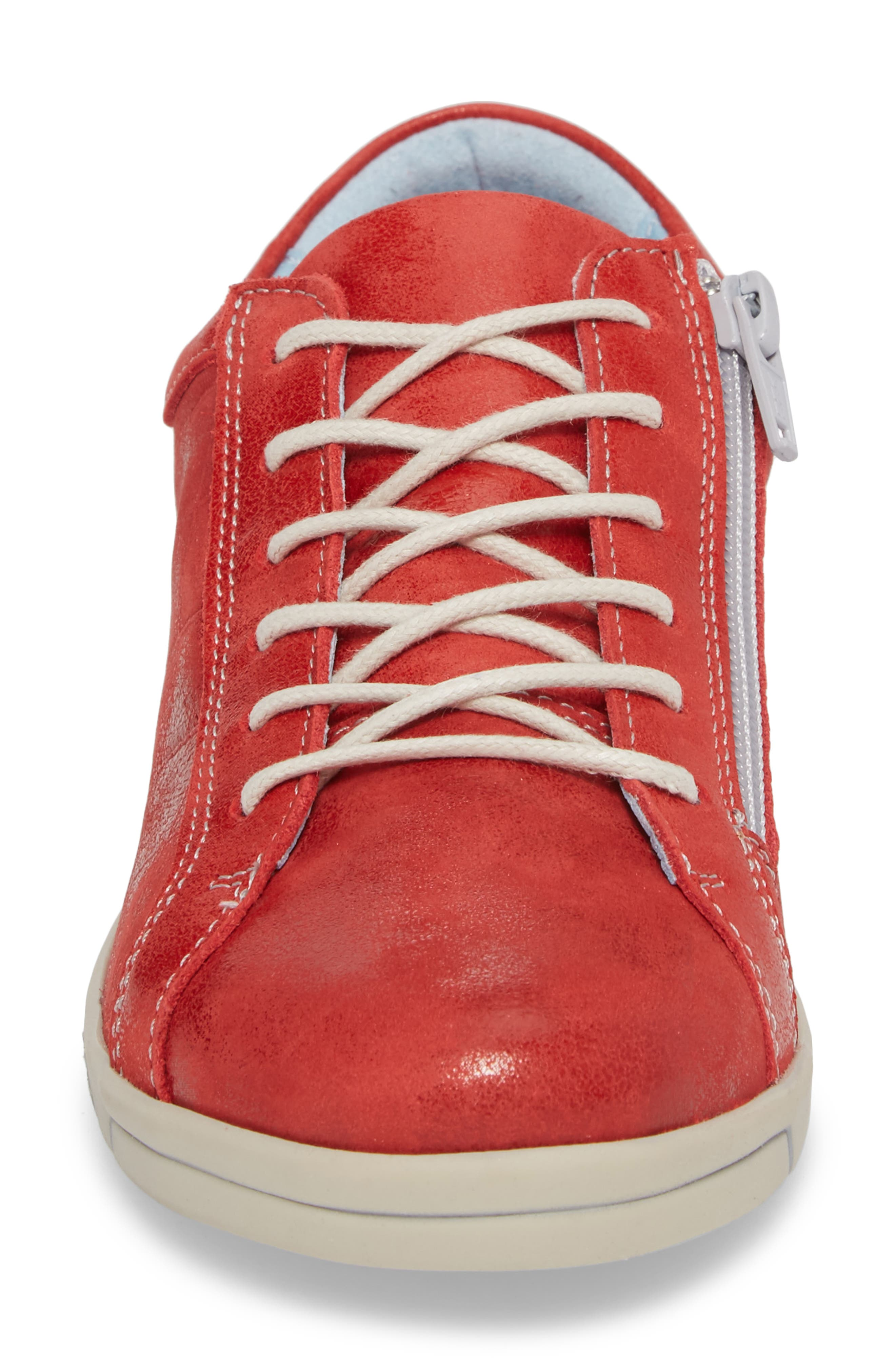 Alessia Sneaker,                             Alternate thumbnail 4, color,                             Red Stinger Leather