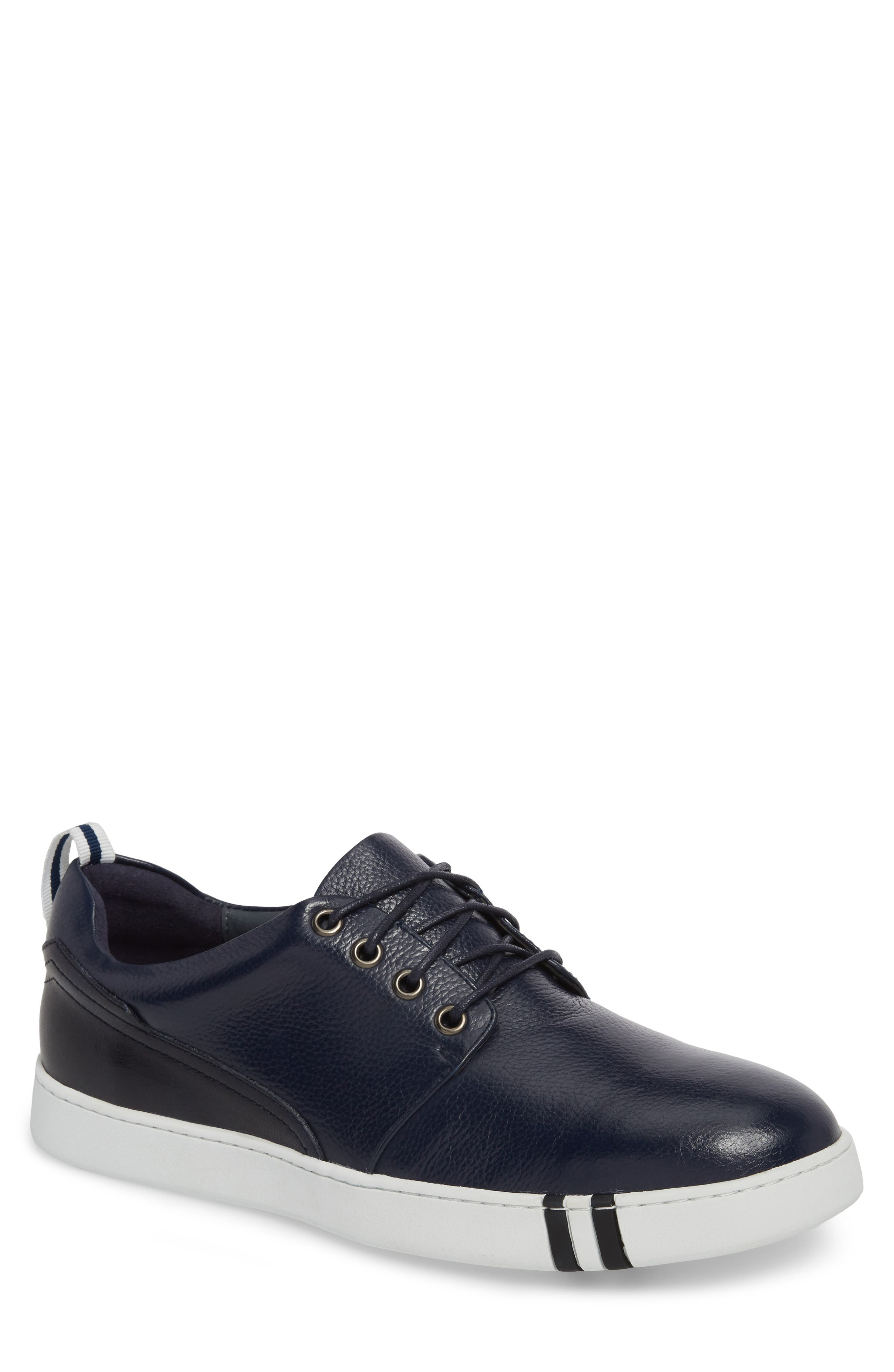 Kings Low Top Sneaker,                             Main thumbnail 1, color,                             Navy Leather